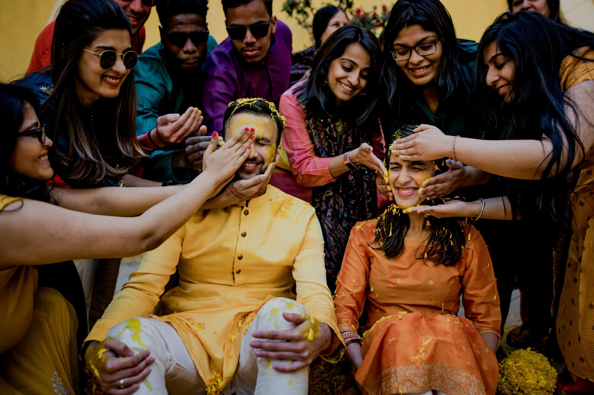 Happy saffron ritual - photo by Rimi Sen Photographers