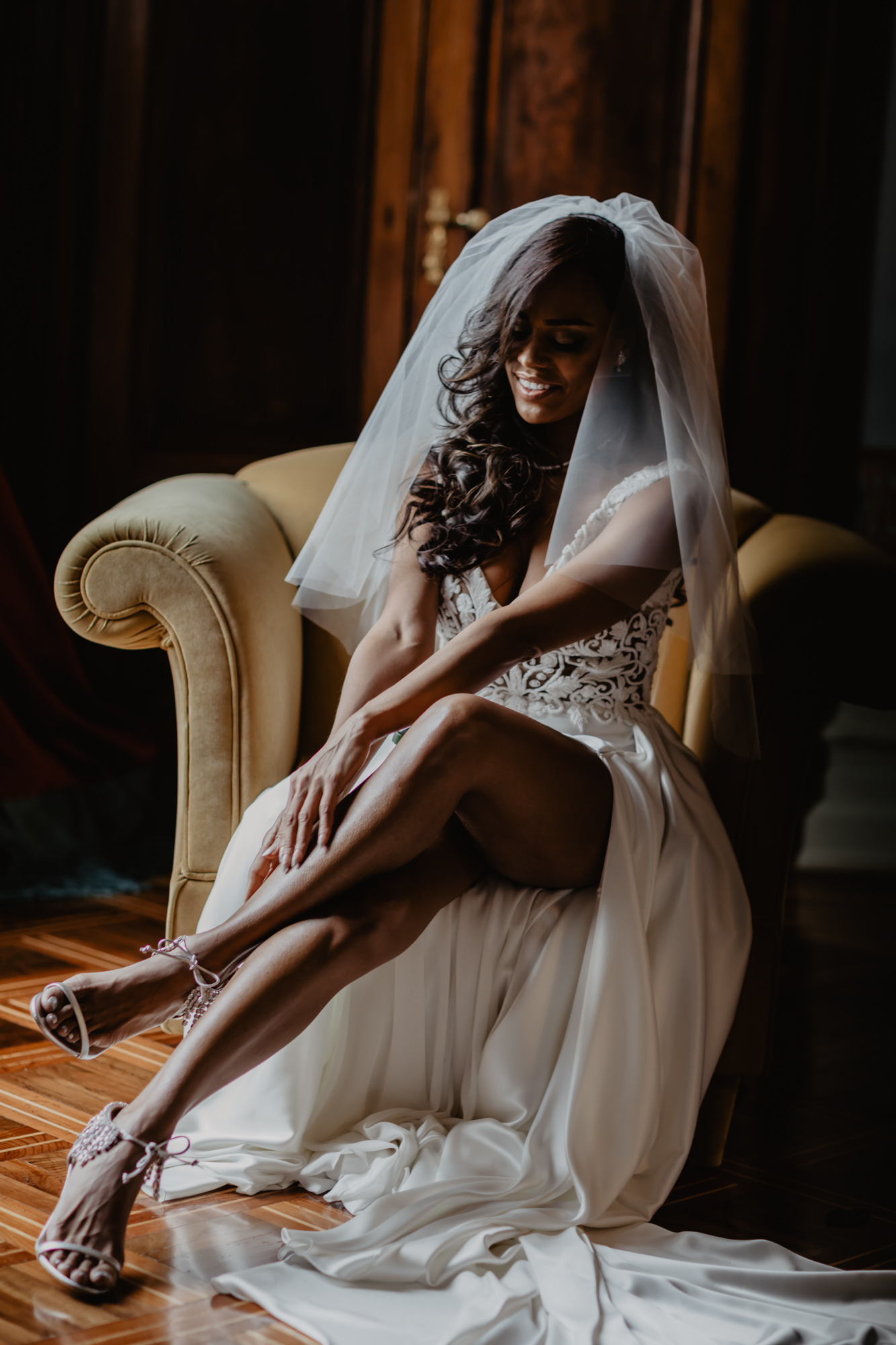 High fashion bridal portrait by David Bastianoni