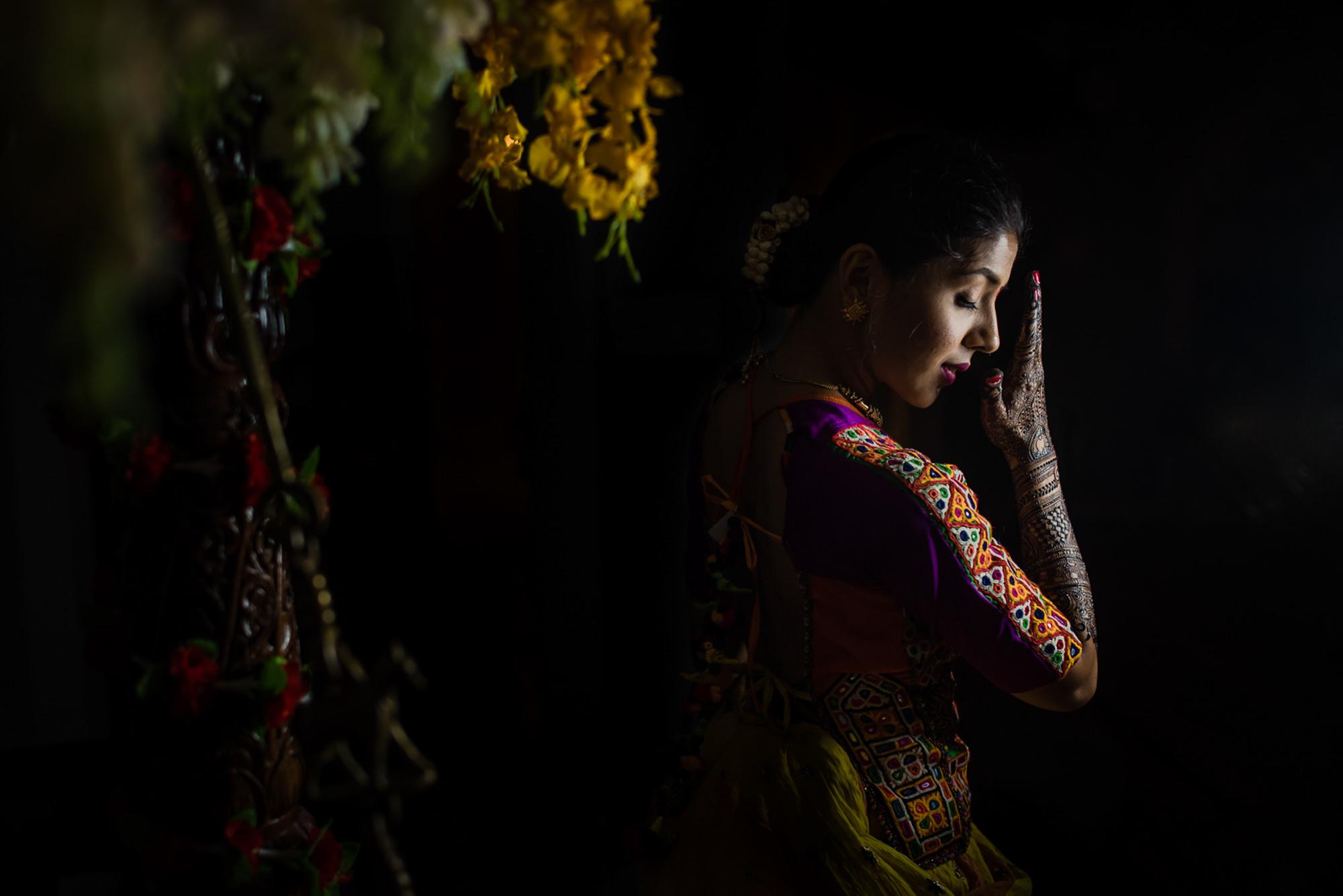 Indian bride portrait - photo by Rimi Sen Photography