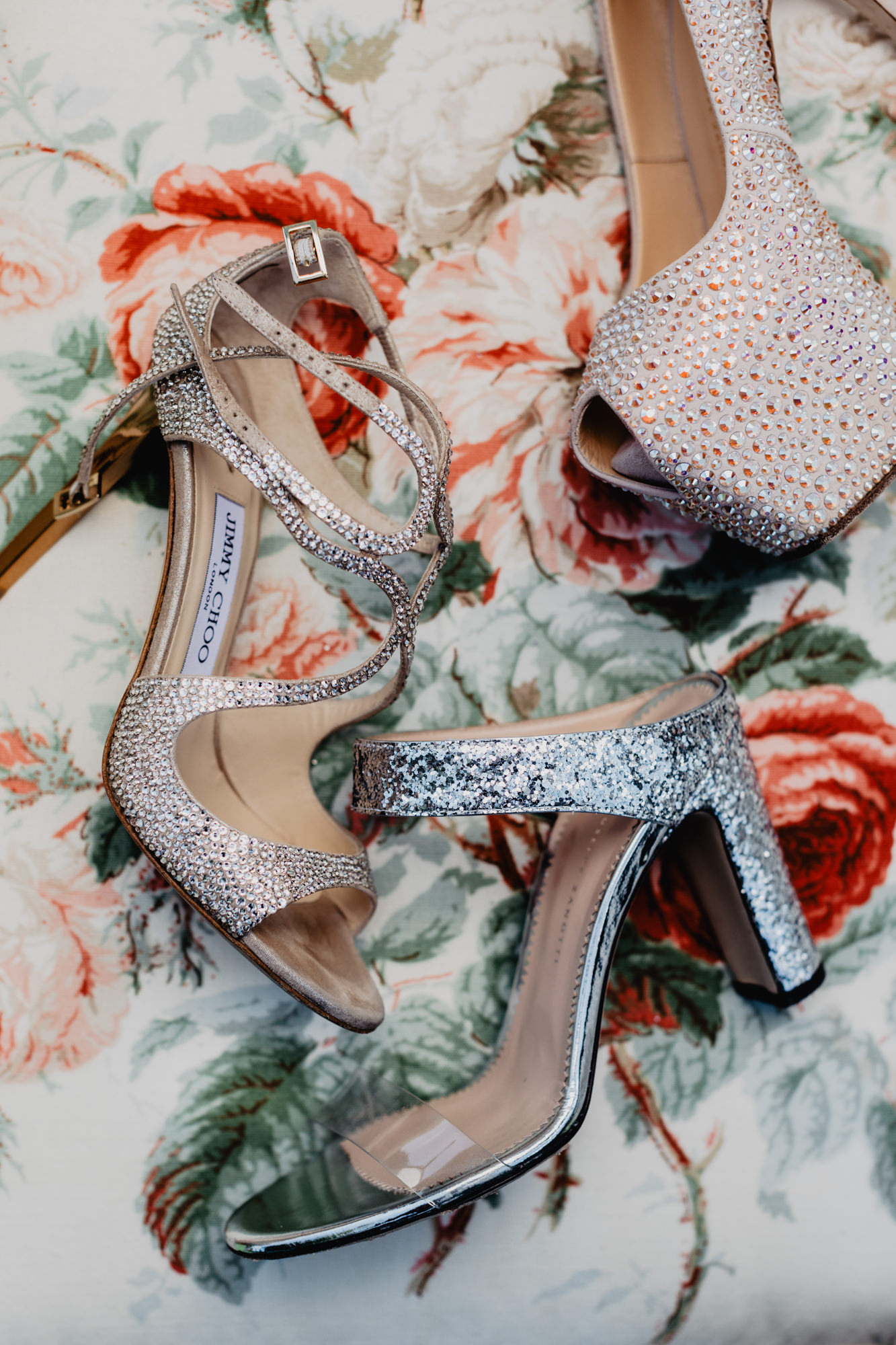 Jimmy Choo sparkel sandals party shoes photo by David Bastianoni