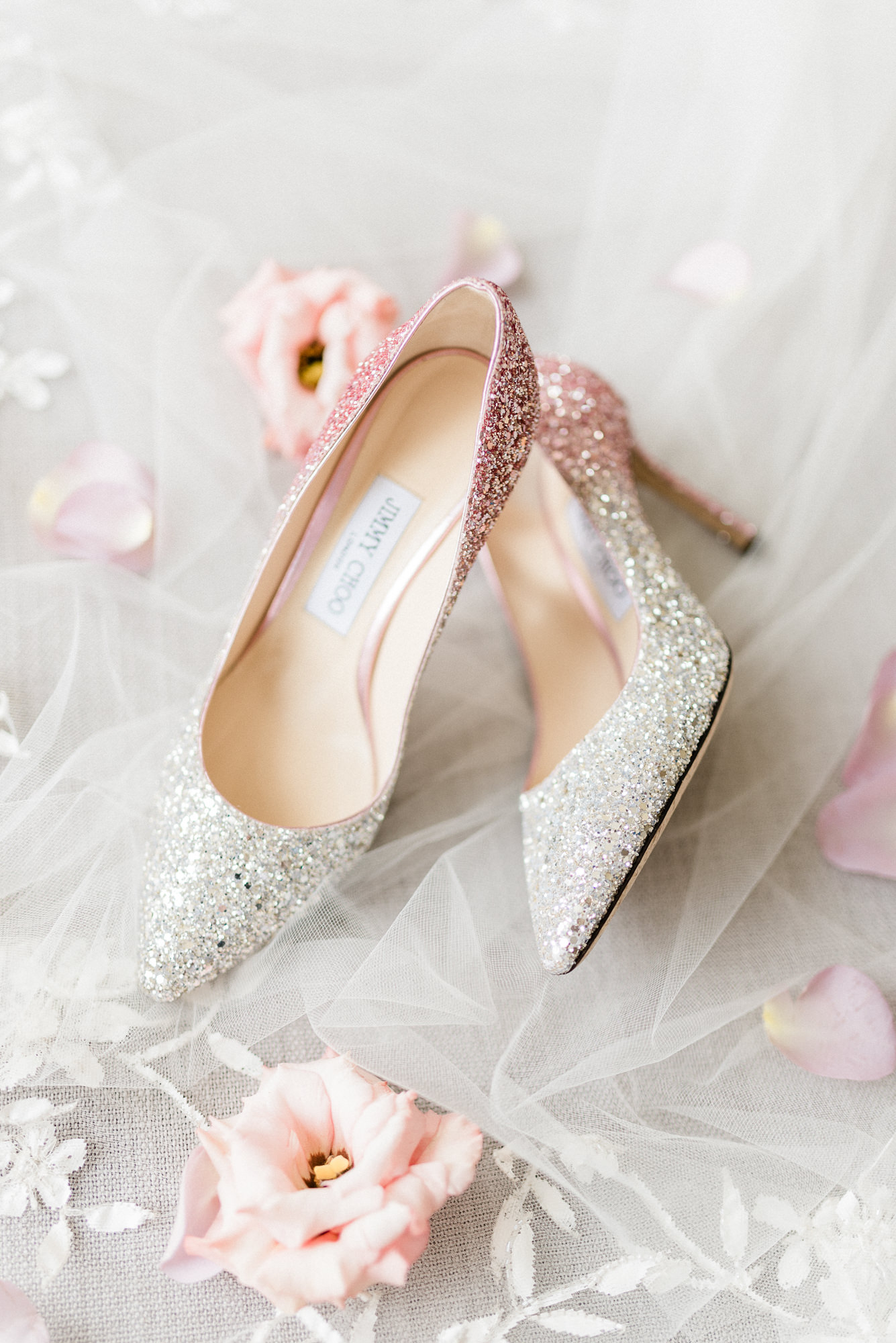 Jimmy Choo sparkle two-toned wedding pumps - Gianluca Adovasio Photography
