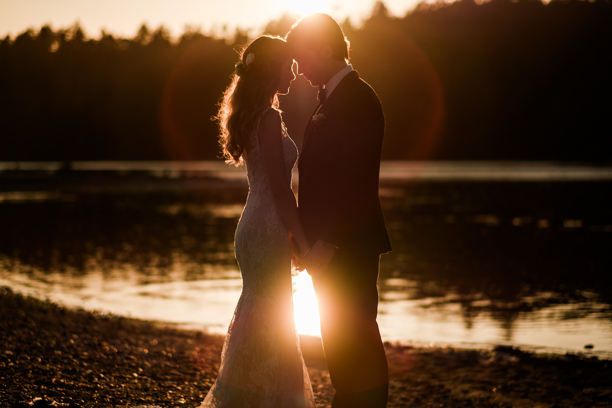 Lovely lens flare portrait golden sunset photo by Nordica Photography