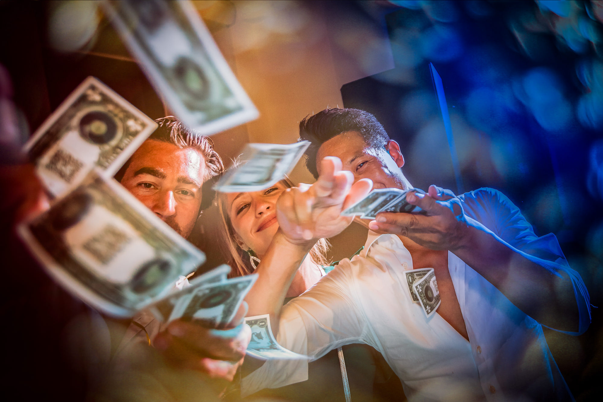 guest making it rain photo by Eppel Photography