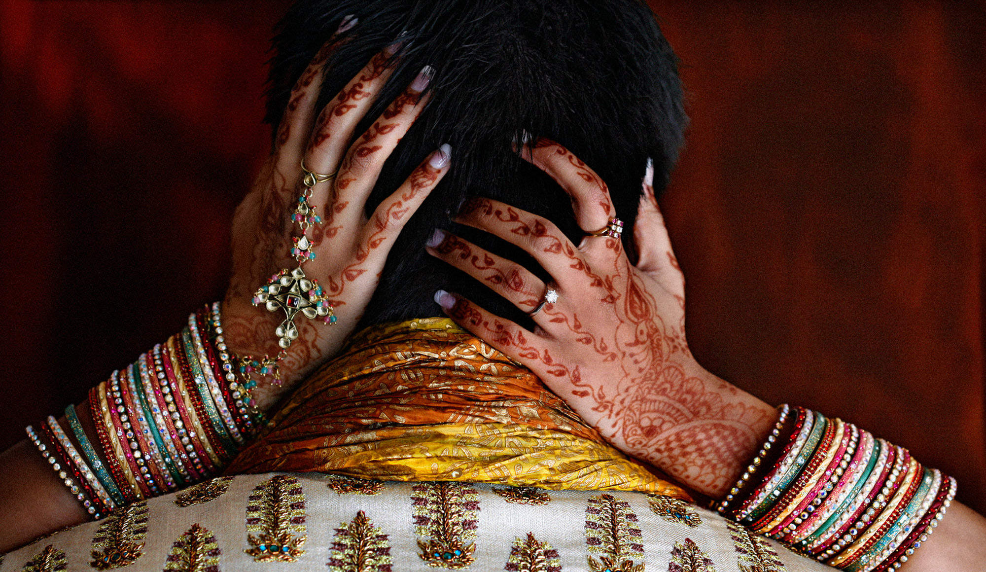 Mendhi hands with Indian jewelry Bride by Jerry Ghionis