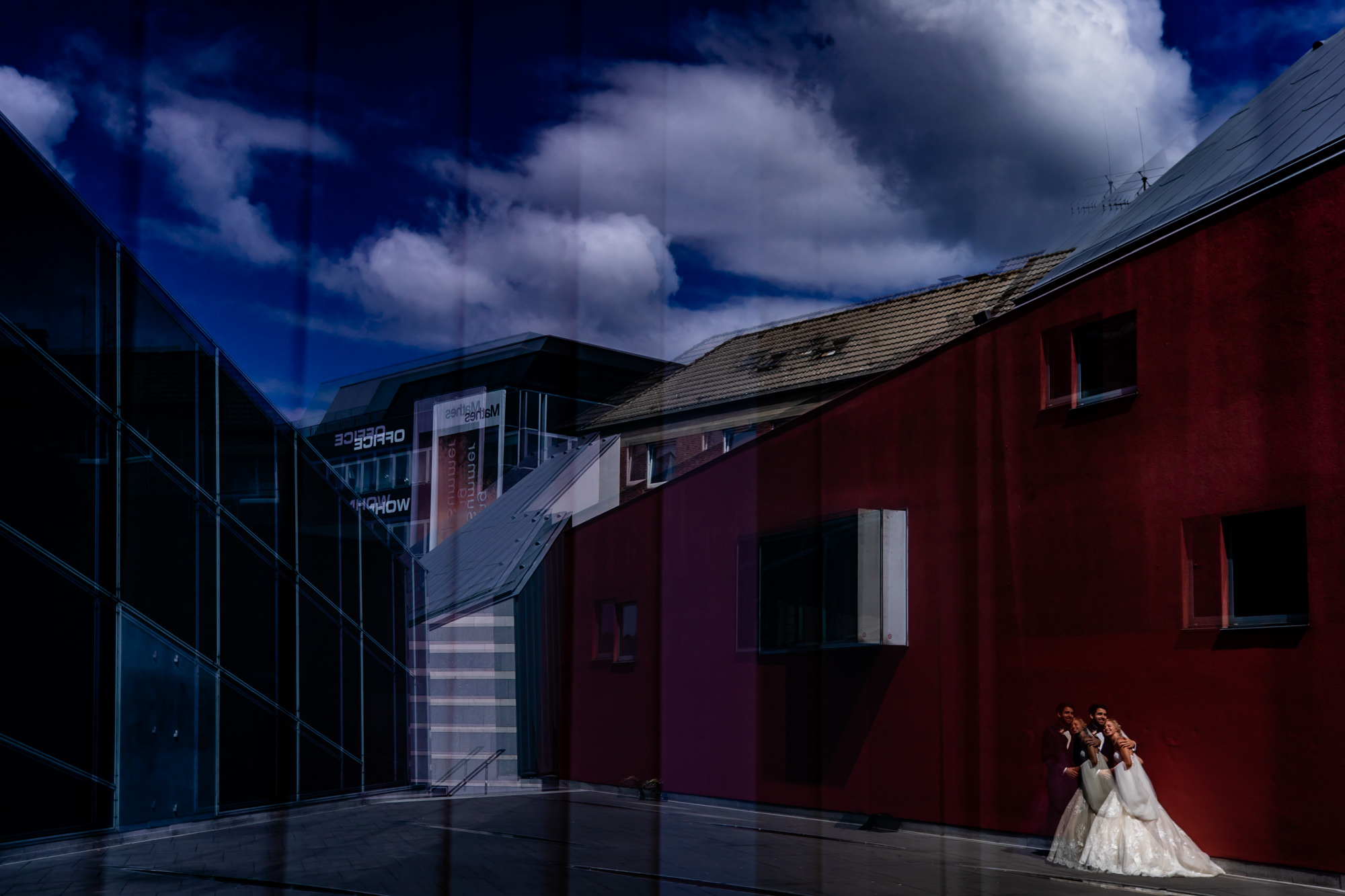Multiple exposure portrait of couple by Eppel Photography