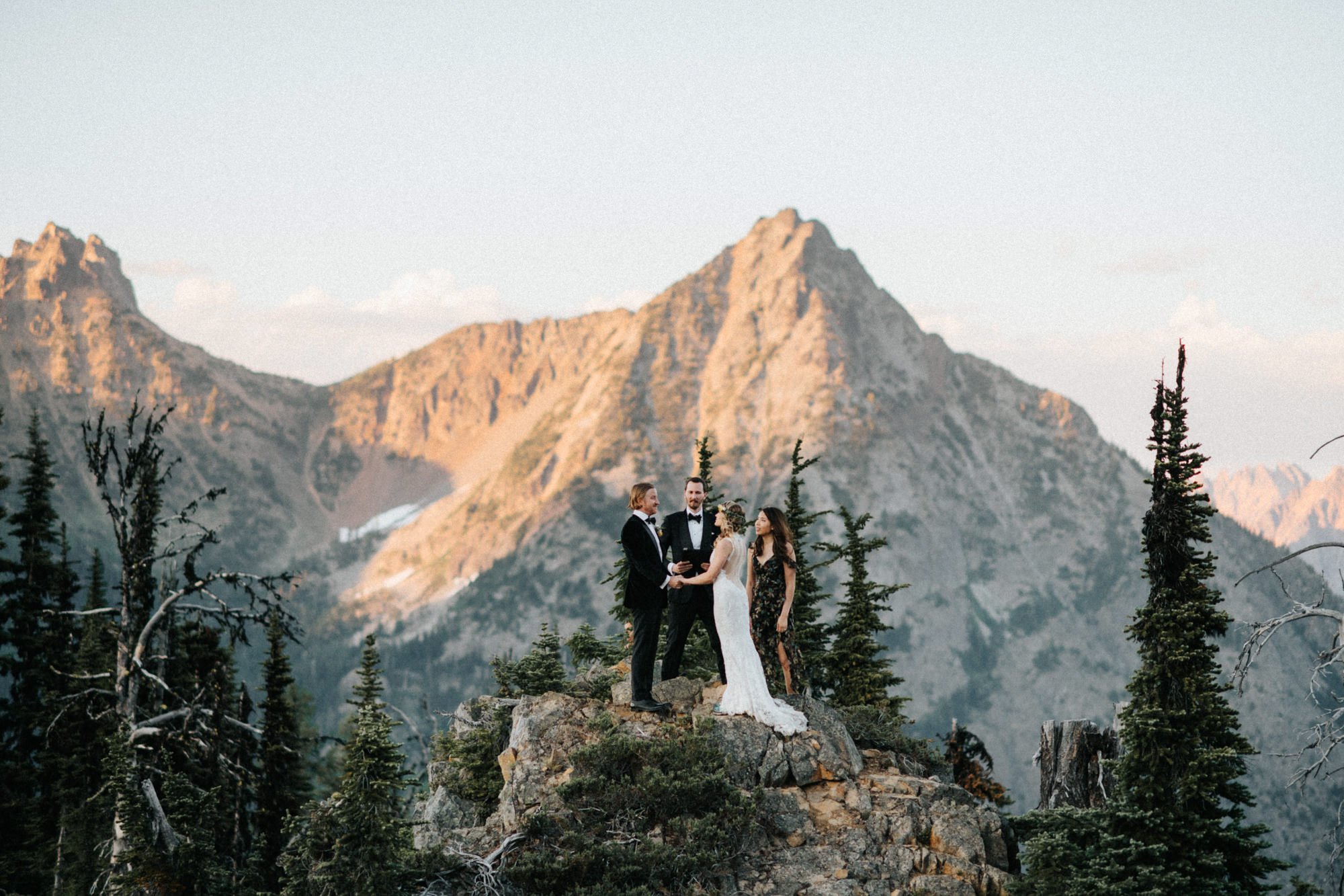 North Cascade mountaintop elopement - photo by Nick + Danee