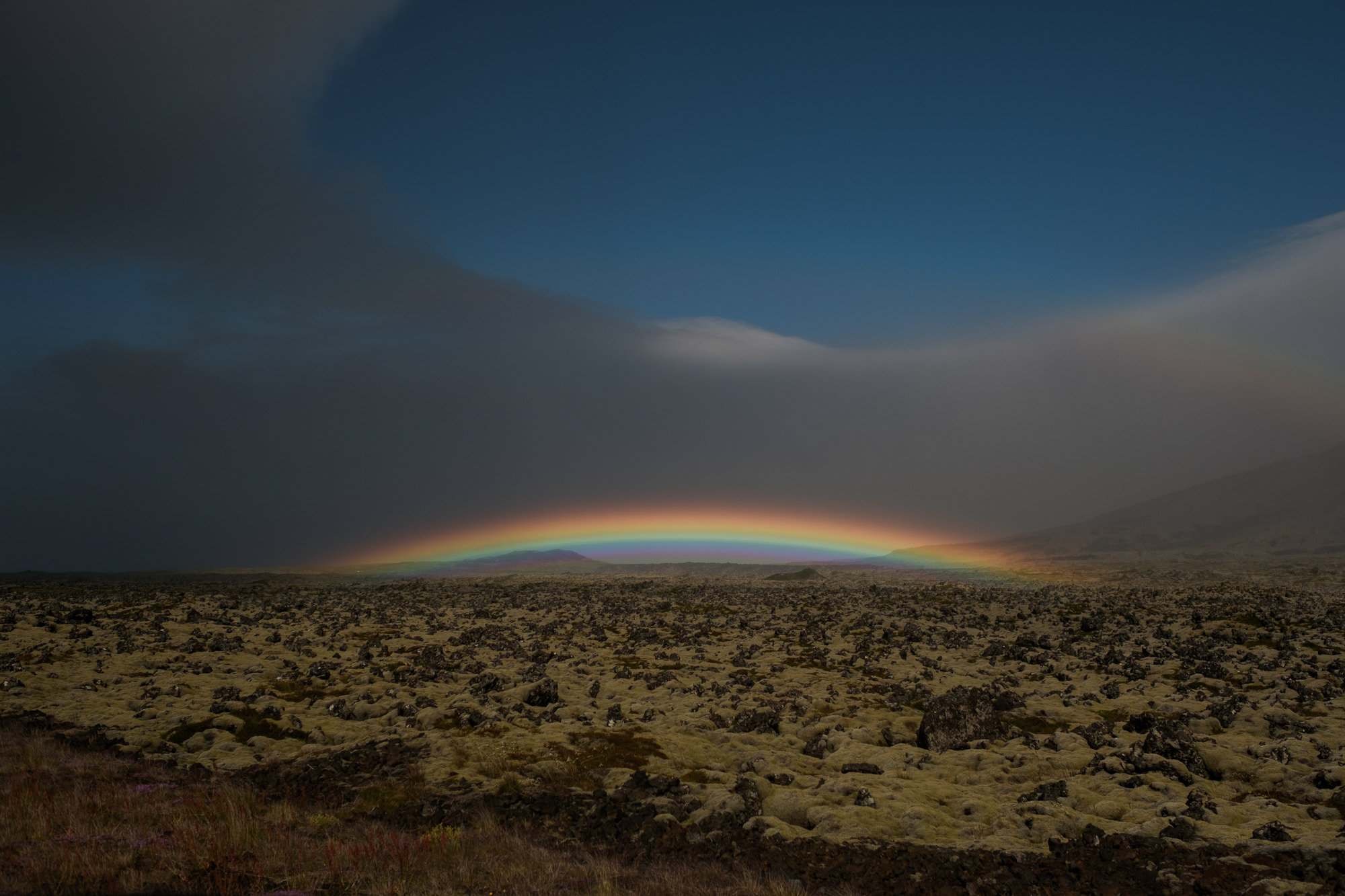 Rainbow lights up the tundra photo by Nordica Photography
