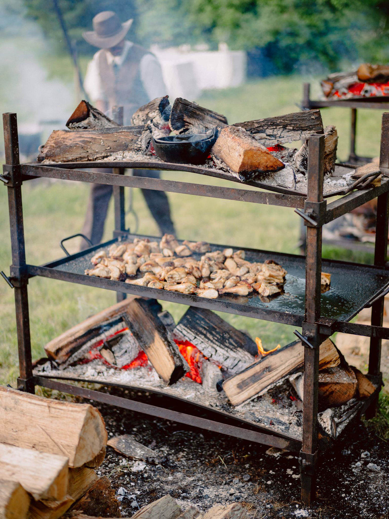 Campfire stove and rustic wedding  - Photo by Benj Haisch