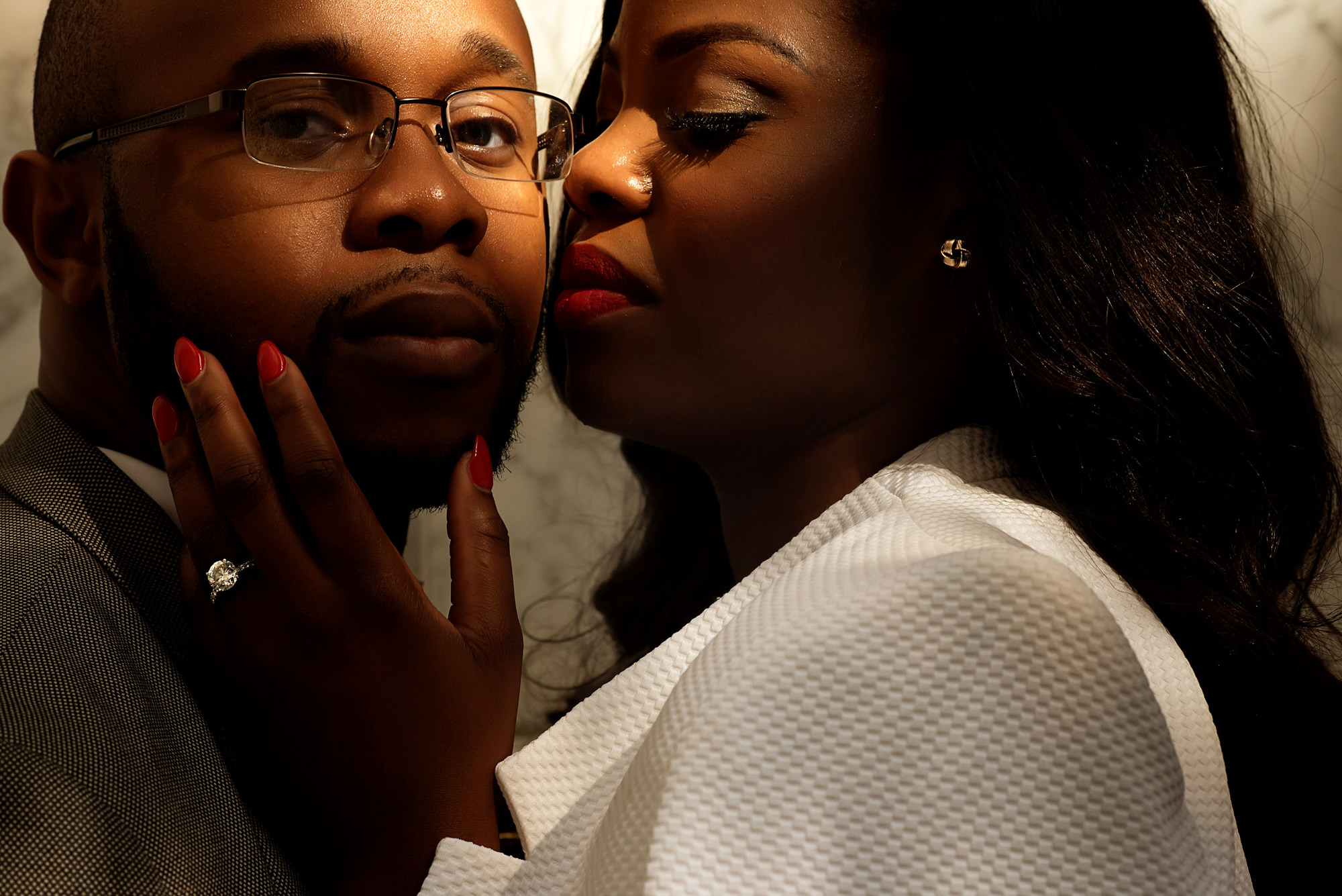 Sultry couple portrait - photo by Alakija Studios