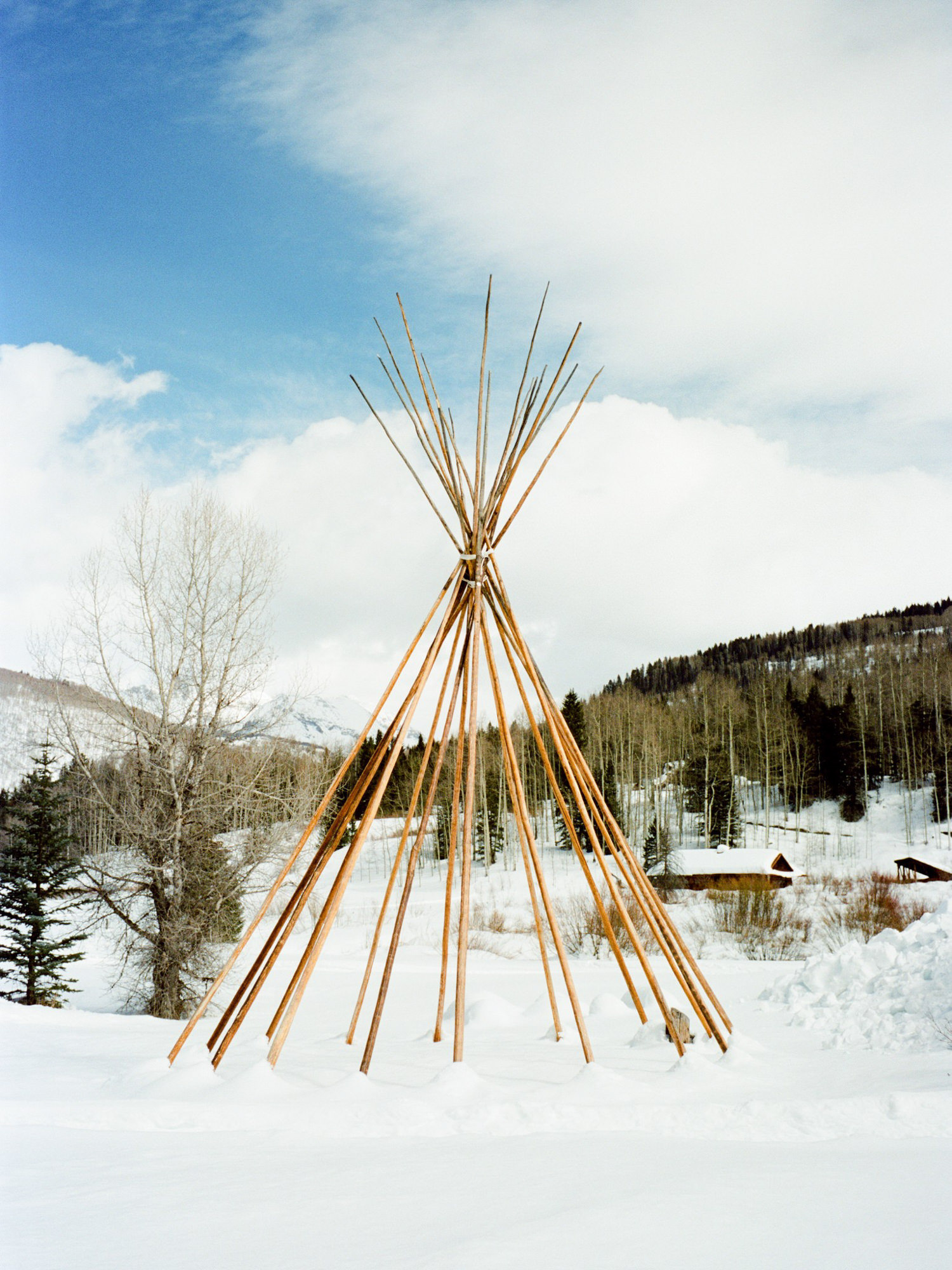 Teepee made for ceremony  -  photo by Benj Haisch