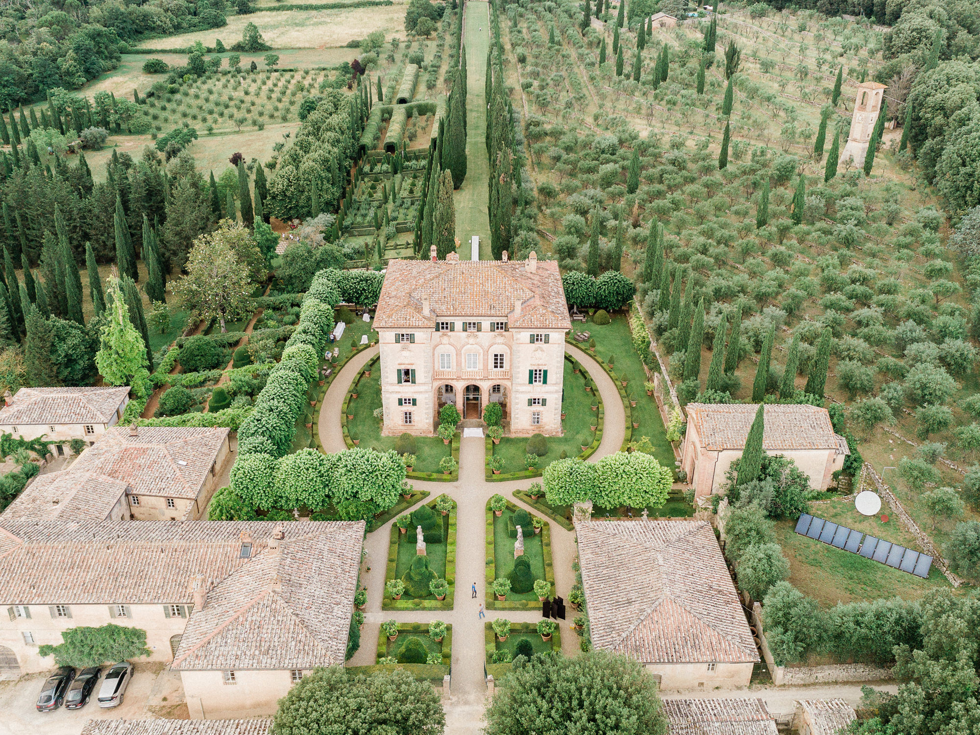 Villa Centinale aerial view  - photo by Gianluca Adovasio Photography