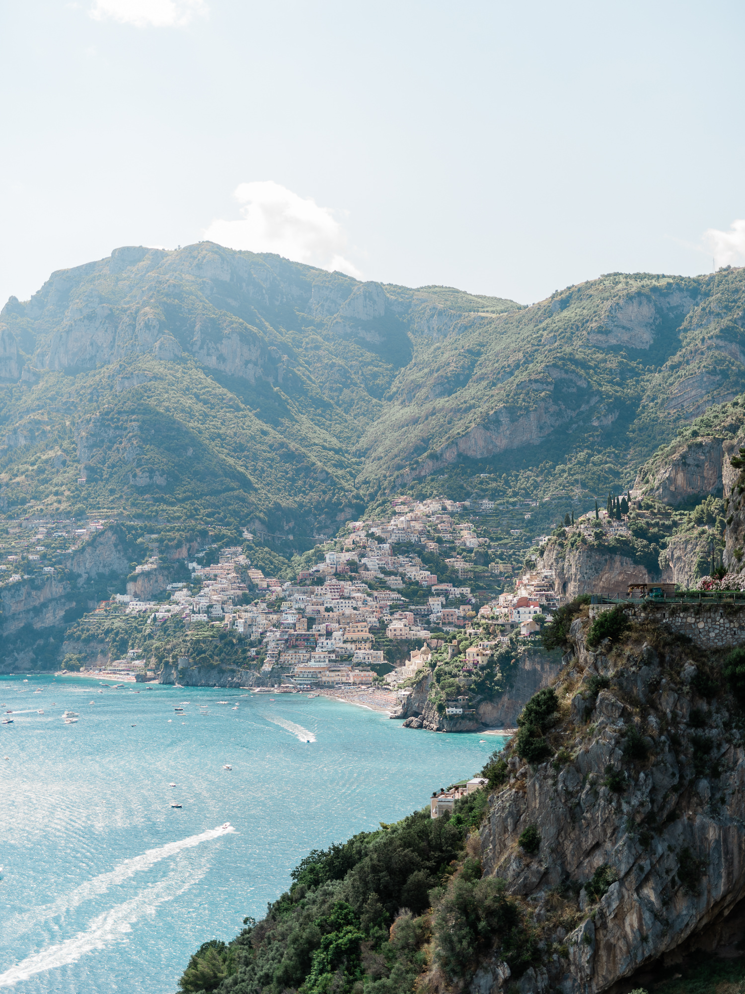 View from Villa San Giacomo in Positiano, Italy - photo by Gianluca Adovasio Photography