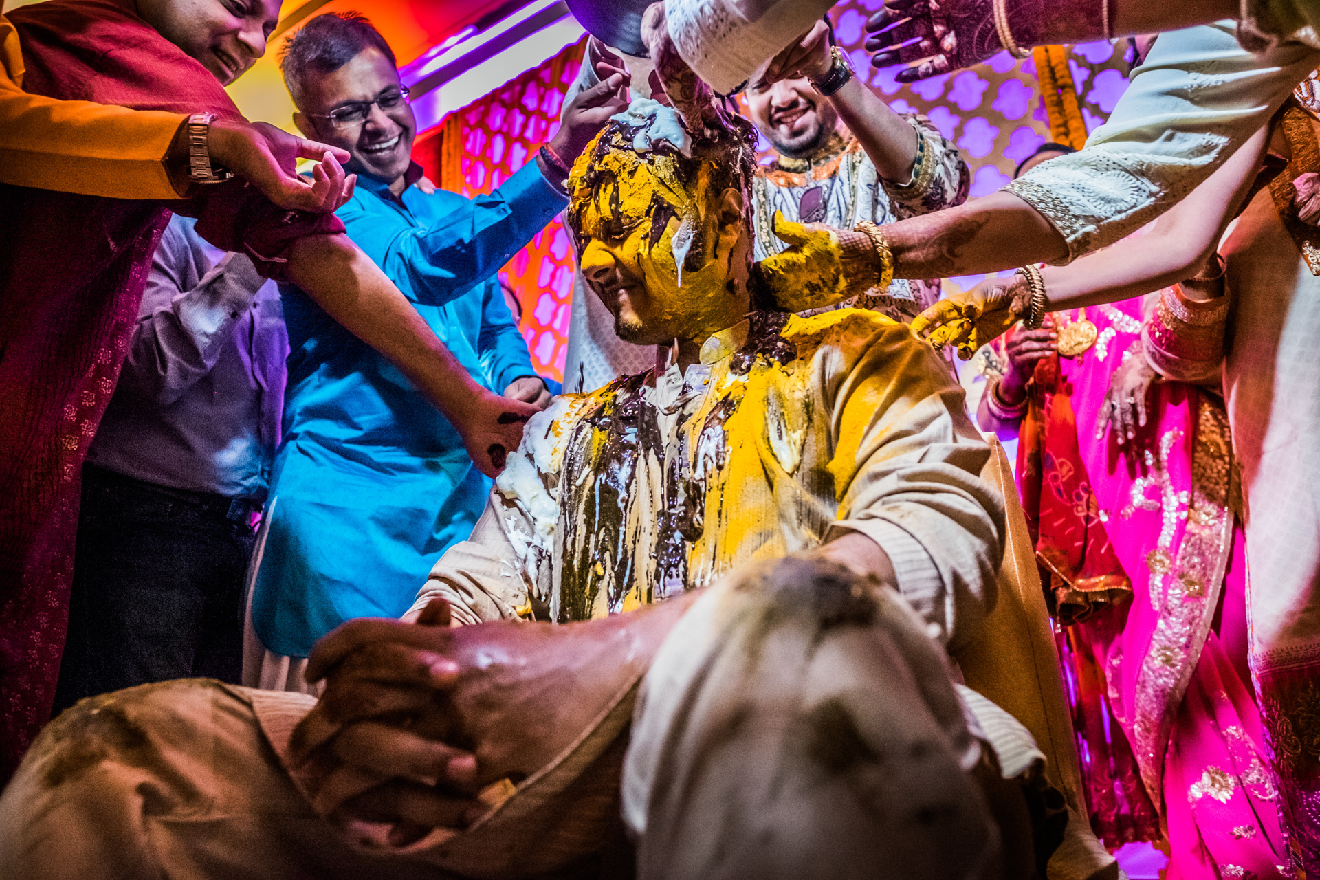 Indian saffron ceremony by Sephi Bergerson