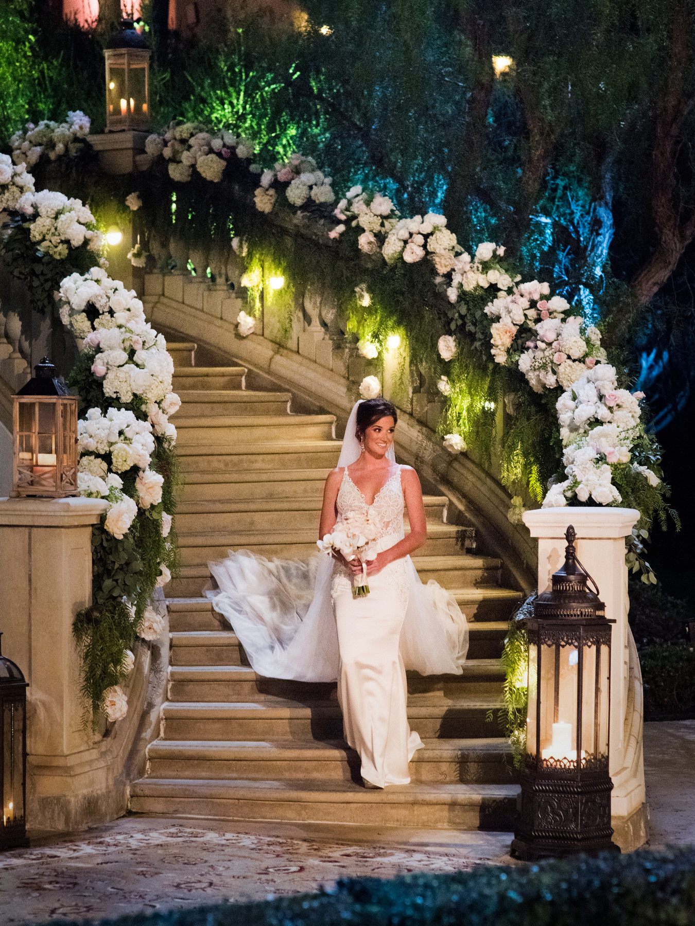 Jade Roper comes down the aisle at St. Regis Monarch Beach - photo by John and Joseph