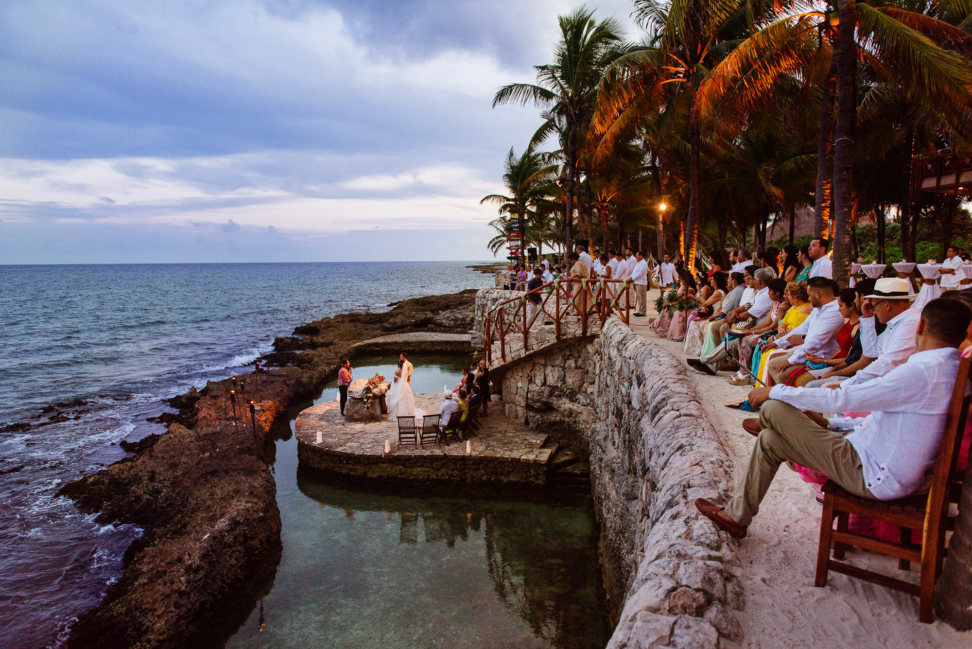 Epic ceremony by the beach in Mexico, by Citlalli Rico