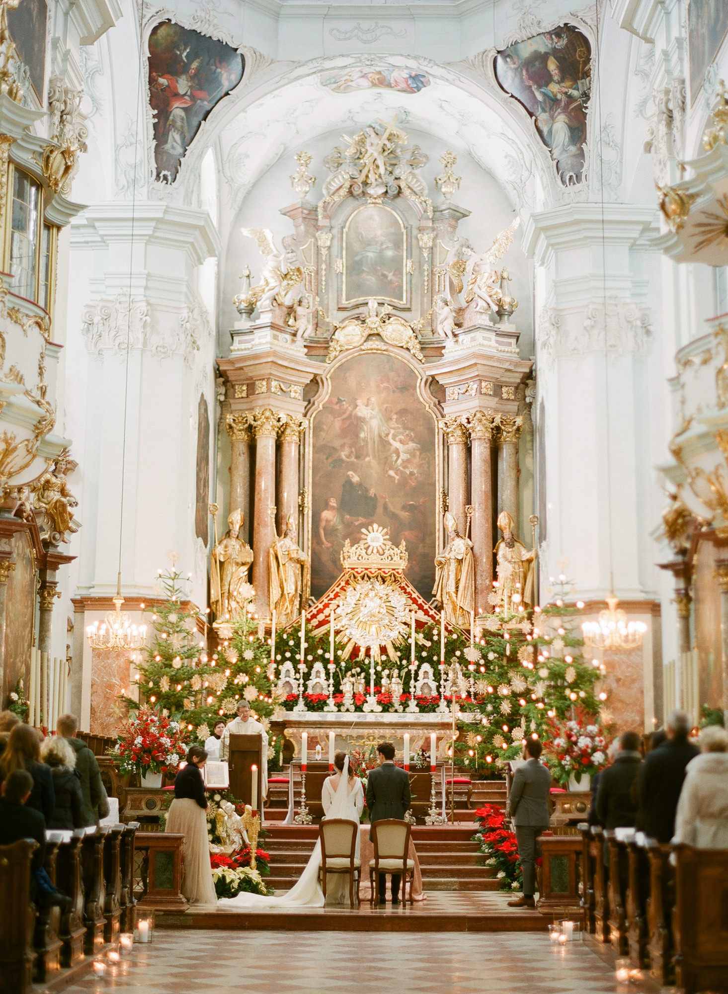 Wedding ceremony at a beautiful church in Europe, by Greg Finck