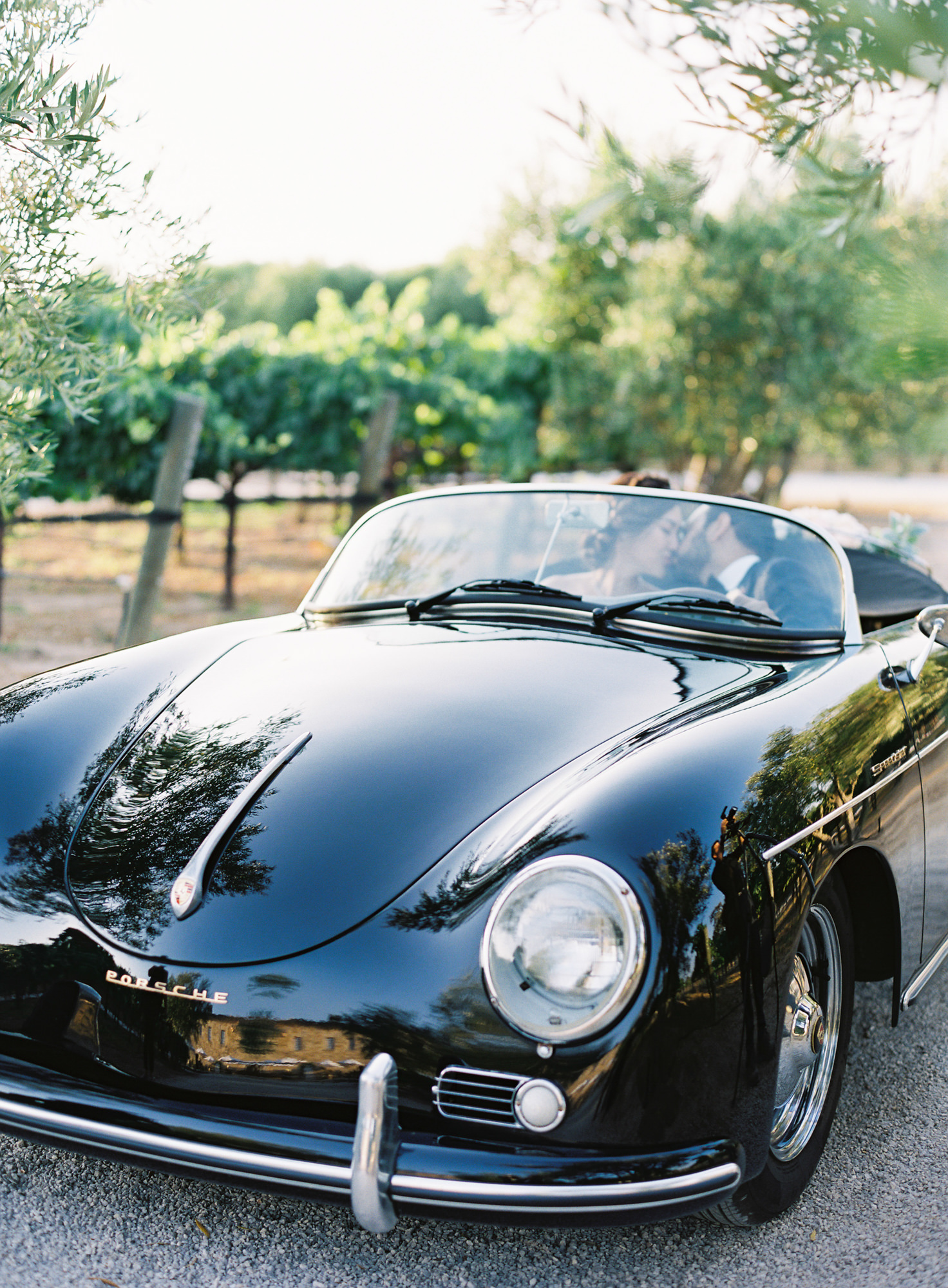 classic car wedding transportation Jen Huang Los Angeles wedding photographer