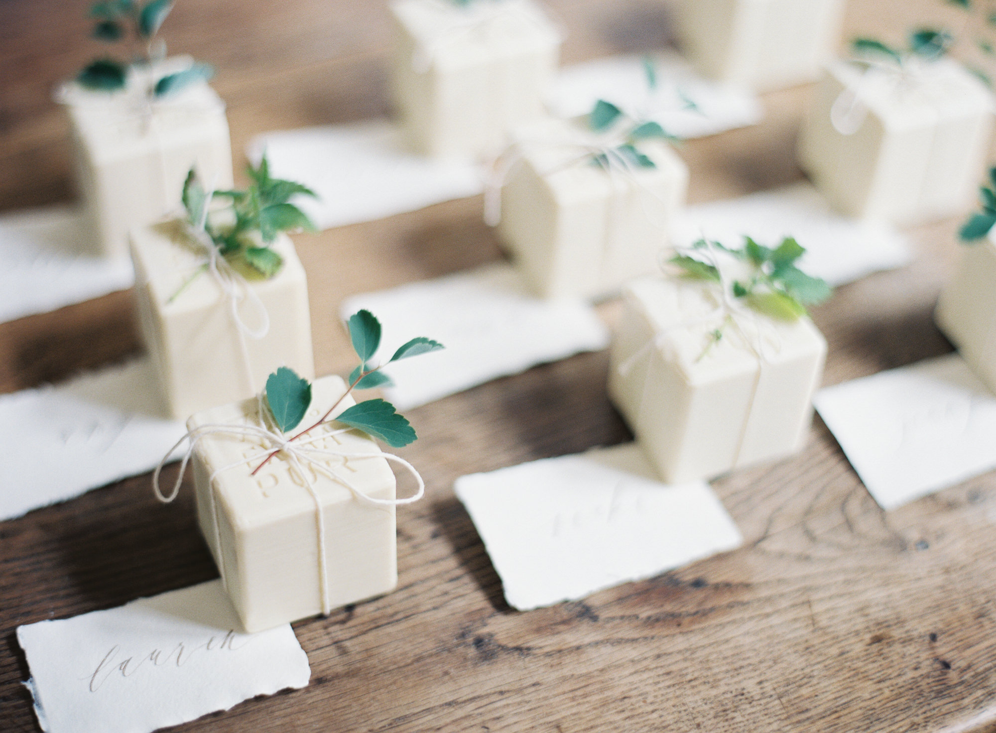Organic soap with herbs wedding gifts Jen Huang of Los Angeles wedding photographer