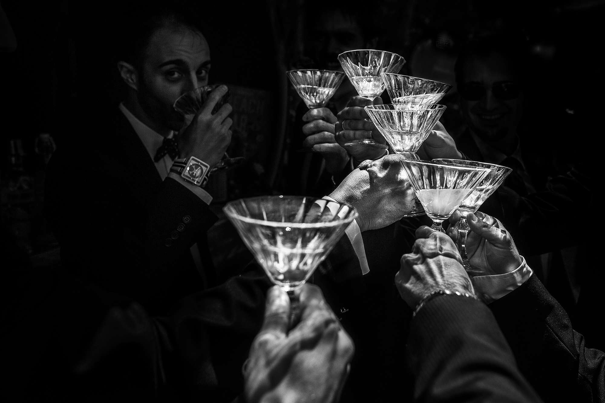 Champagne toast - photo by Victor Lax
