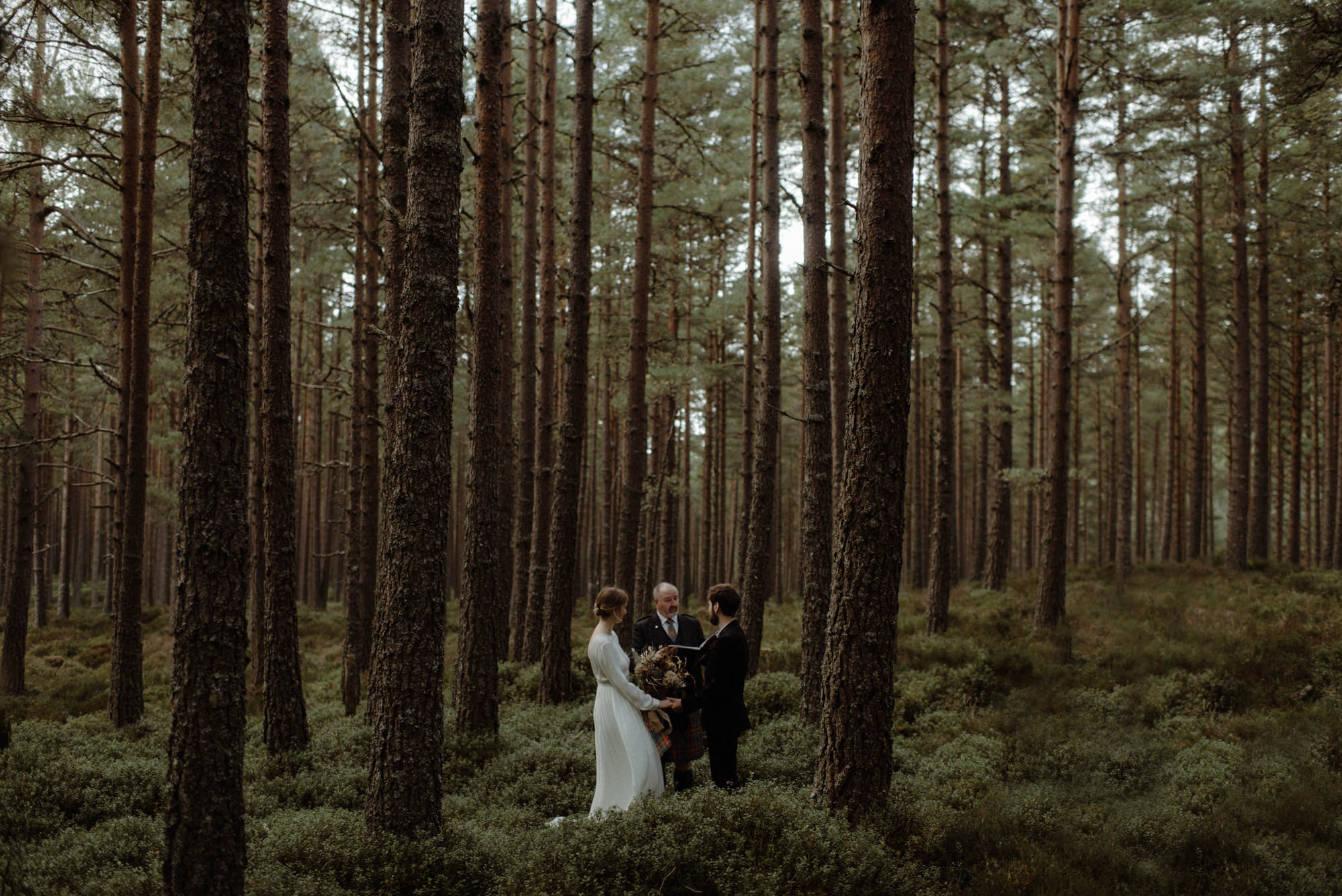 Forest elopement - photo by the Kitcheners - Scotland