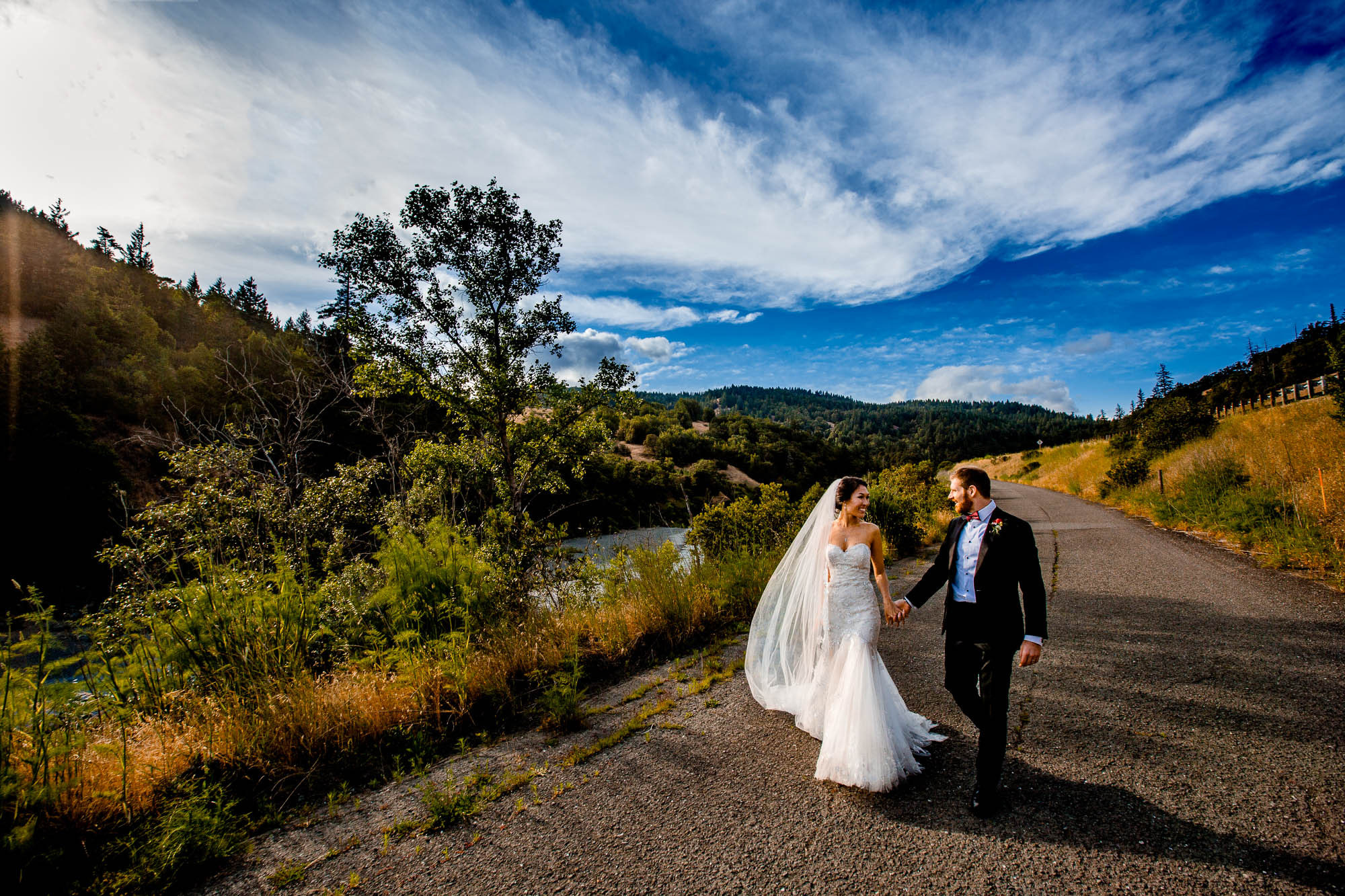 Couple walking river road photo by JOS Studios : Jos and Tree Woodsmith