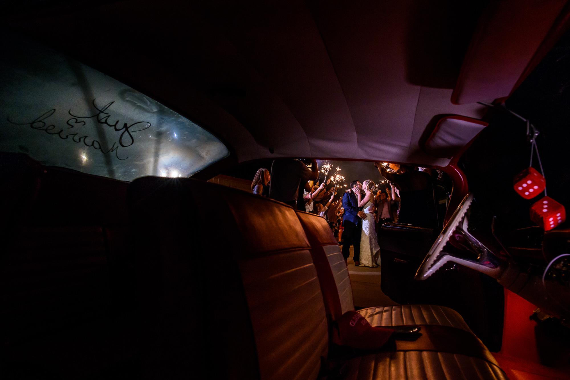 Creative composition of sparkler exit by Tyler Wirken - Kansas City
