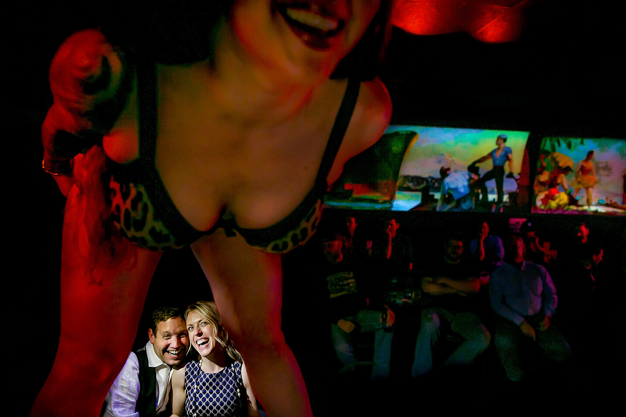 Funny stripper photo with couple laughing - Photo by Jos Studios - Portland