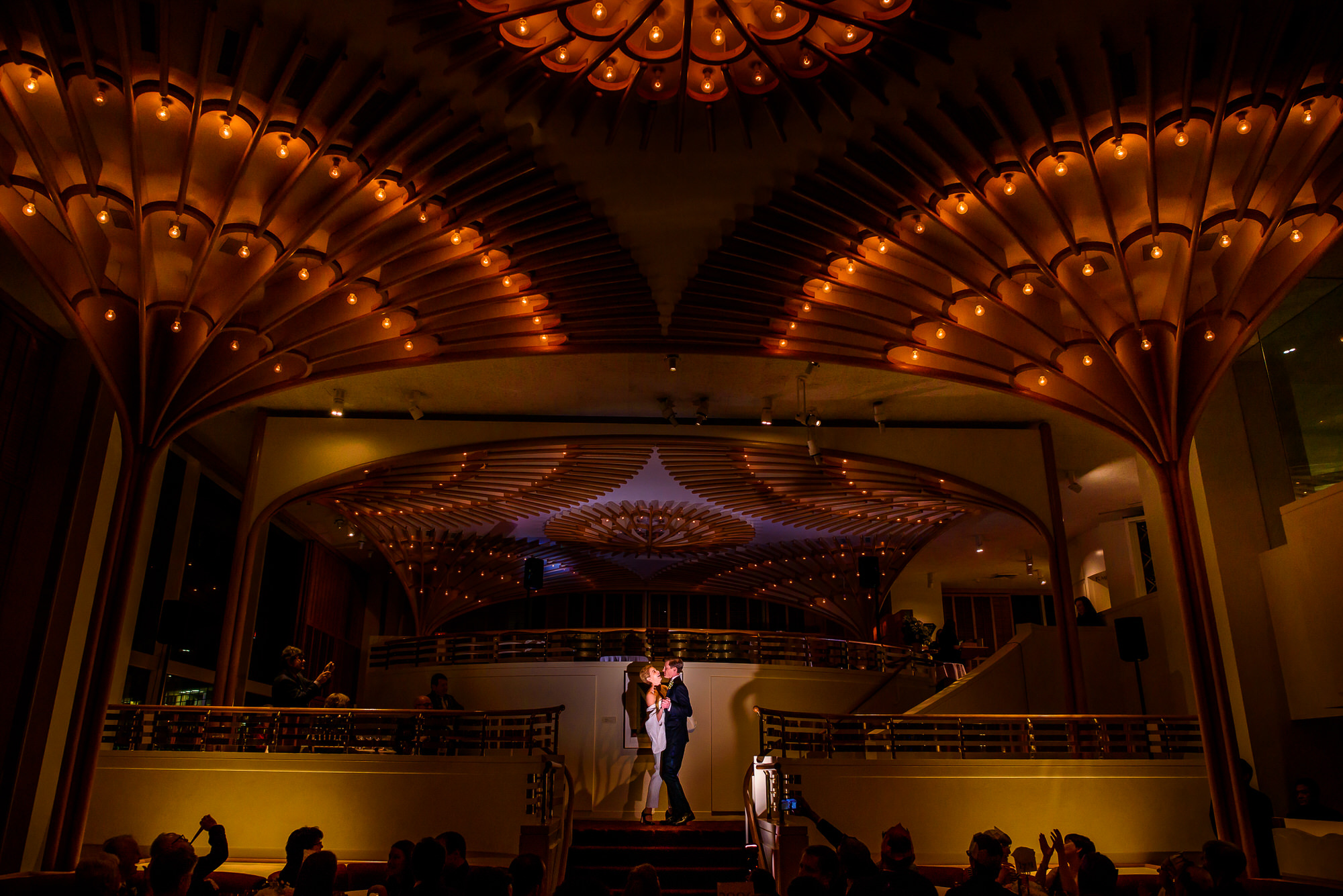 First dance photo in ornate ballroom by Tyler Wirken - Kansas City