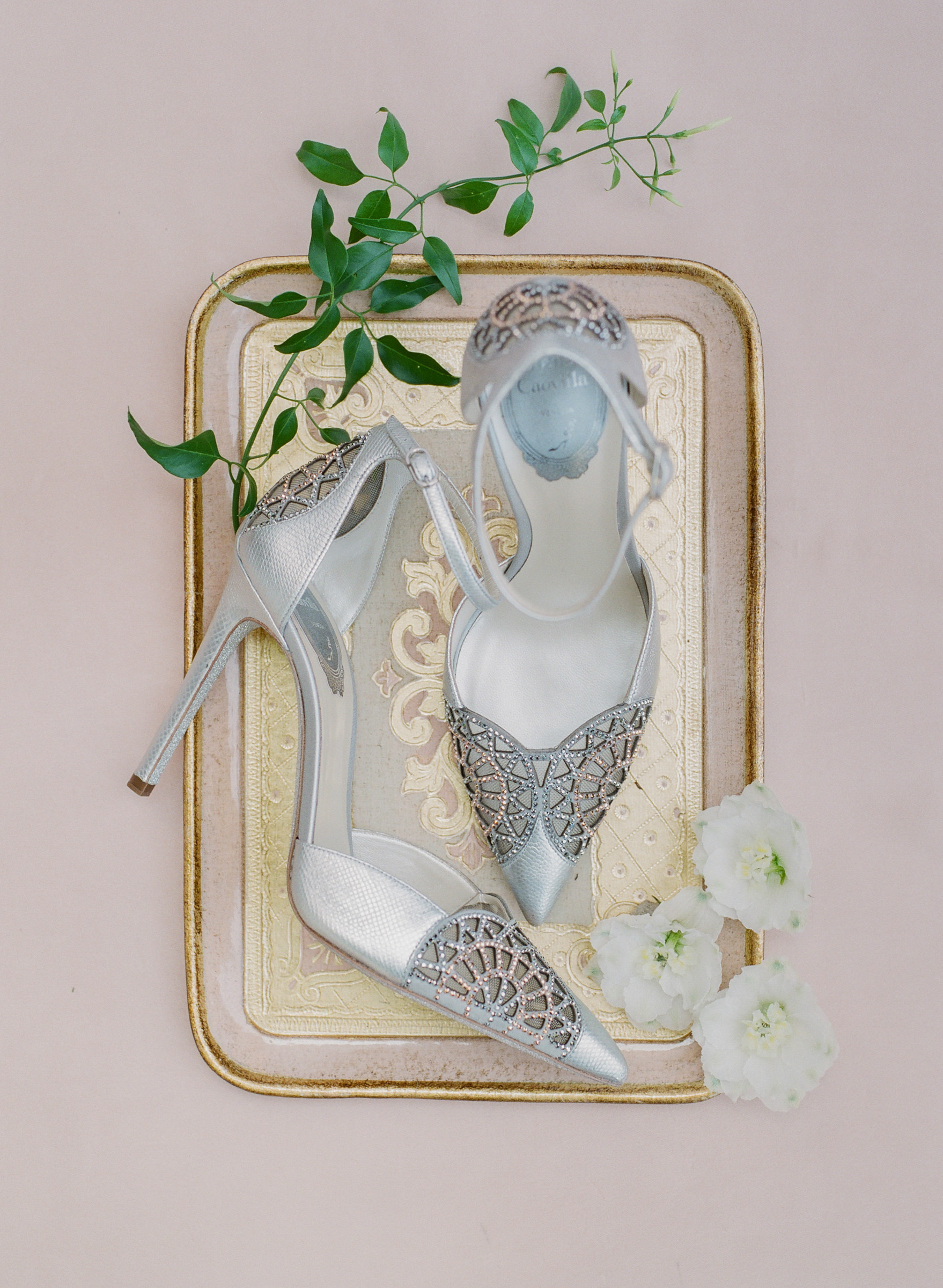 Caovila beaded silver high heel sandals -  photo by Corbin Gurkin