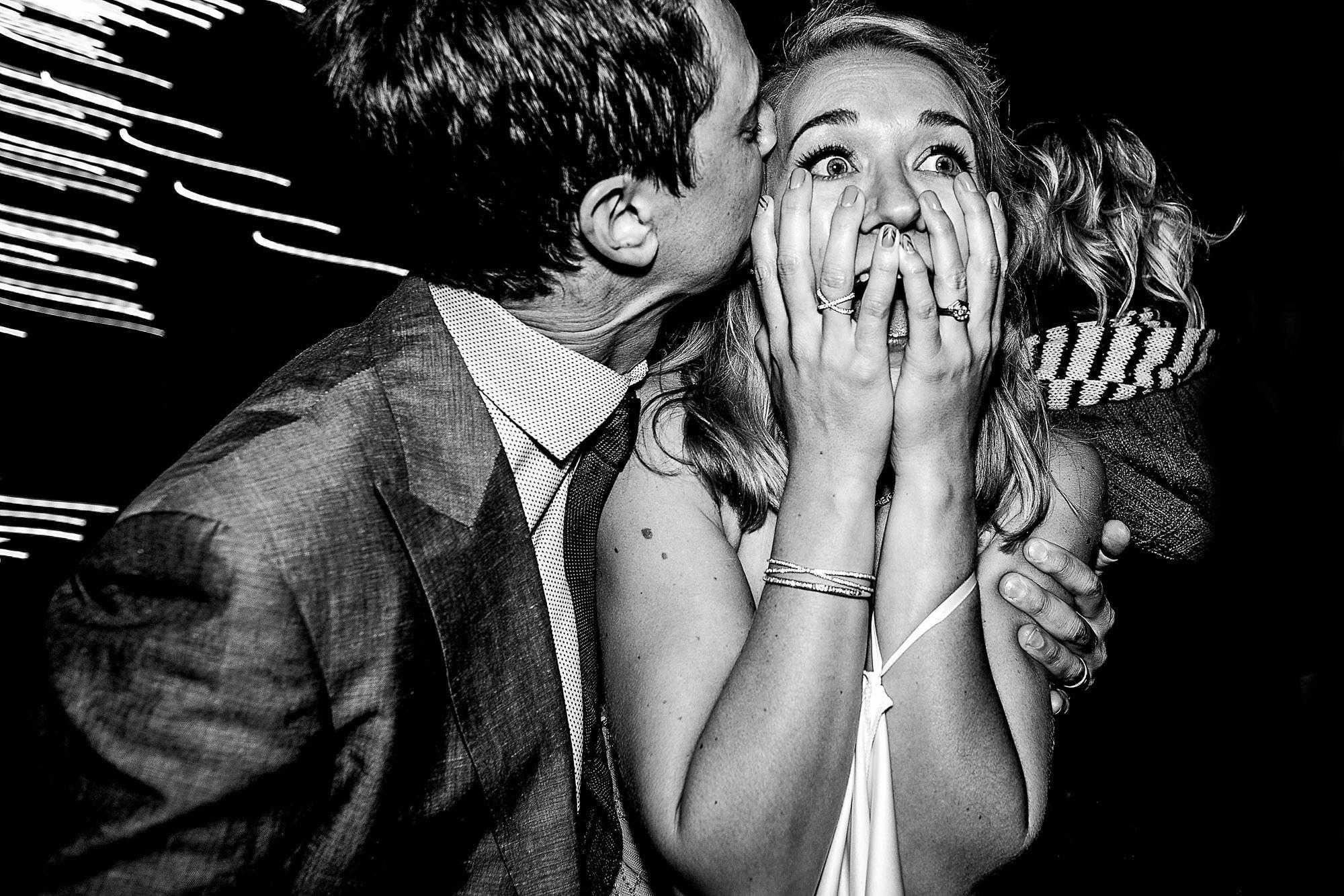 Bride totally suprised - photo by Jos Studios