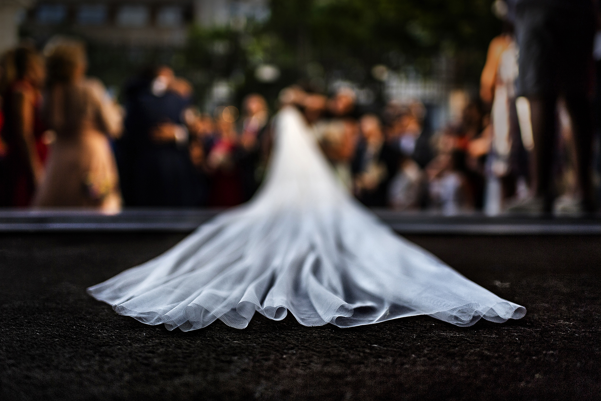 Bride train detail - photo by Victor Lax