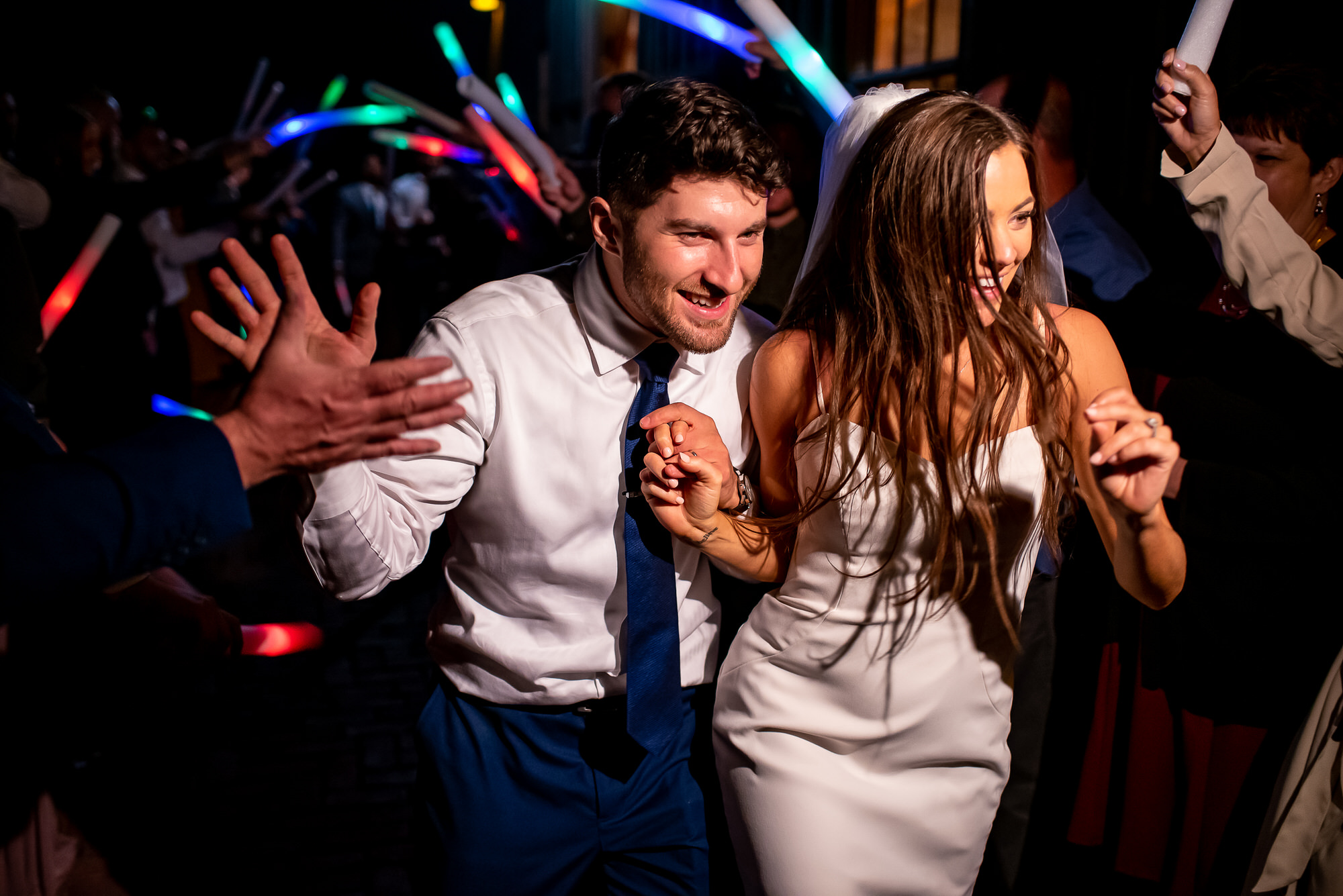 Happyouple leaving dance floor - photo by Tyler Wirken