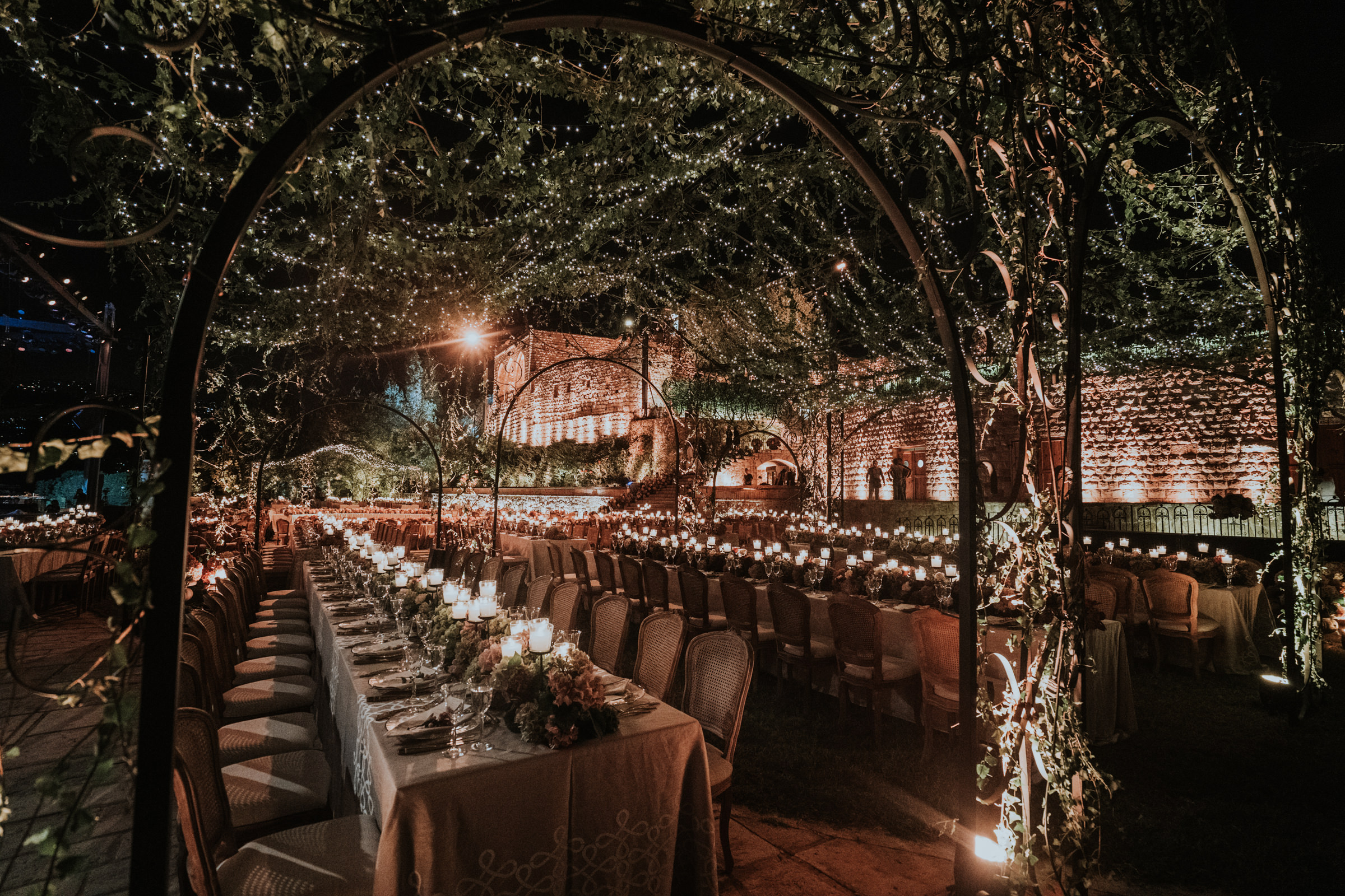 Evening garden reception setup - Photo by MunKeat Photography Studio