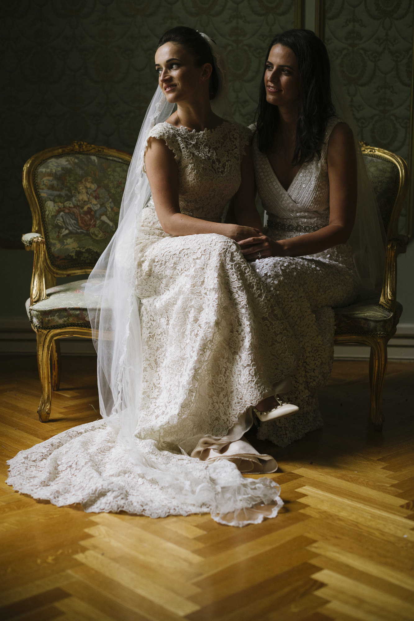 Brides in gorgeous wedding gowns, photo by Thierry Joubert