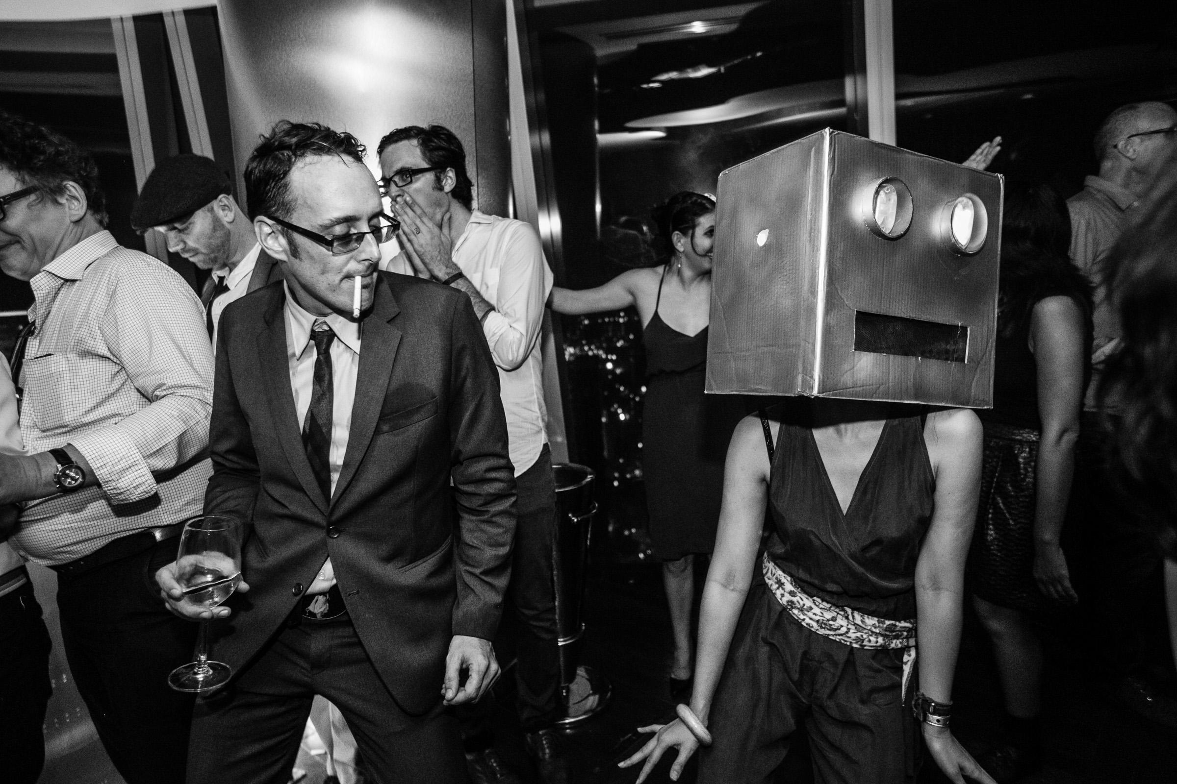 Fun reception moment - Photo by Wainwright Weddings