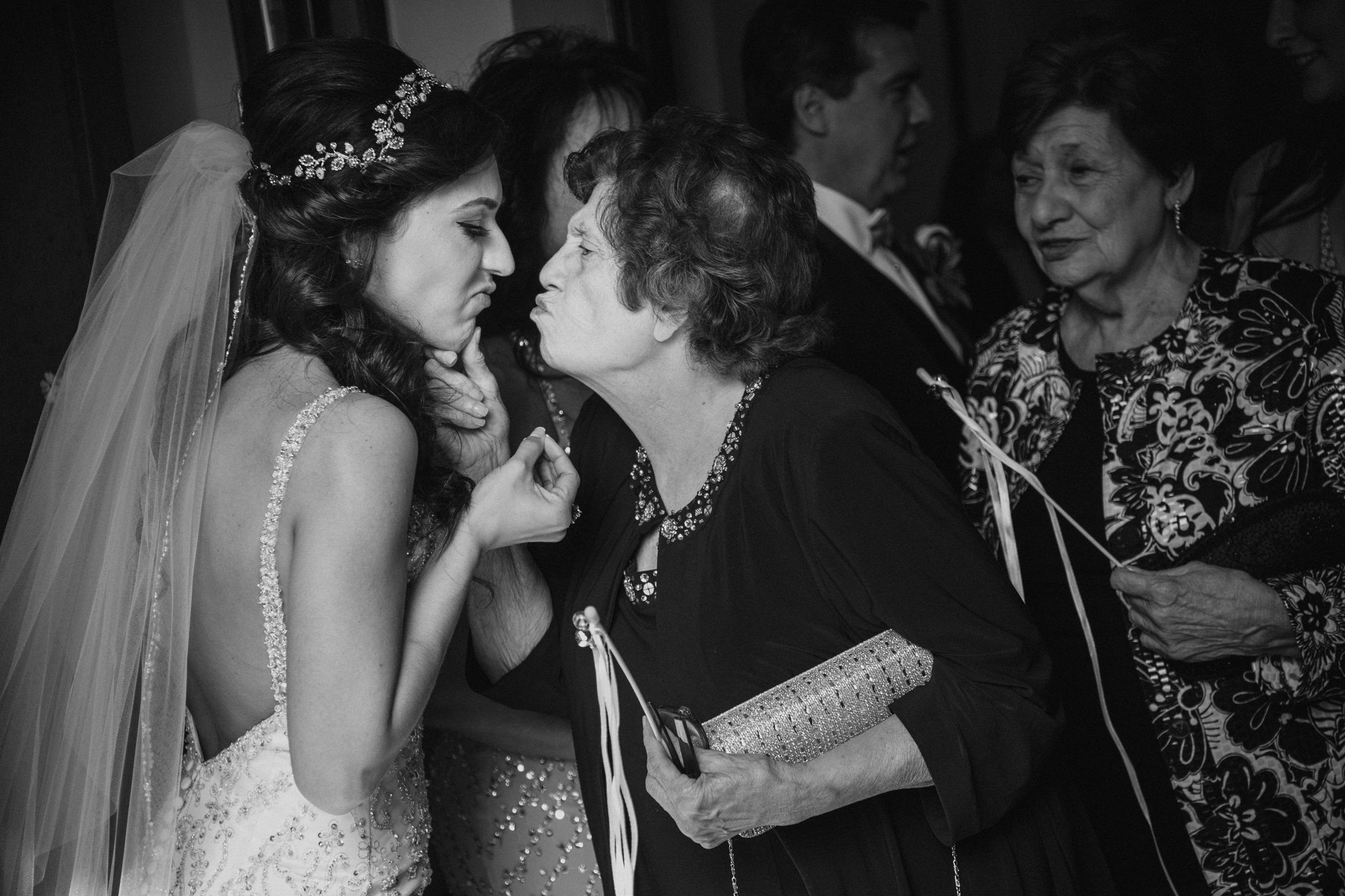 Funny matching expressions on bride and grandma - Photo by Susan Stripling Photography