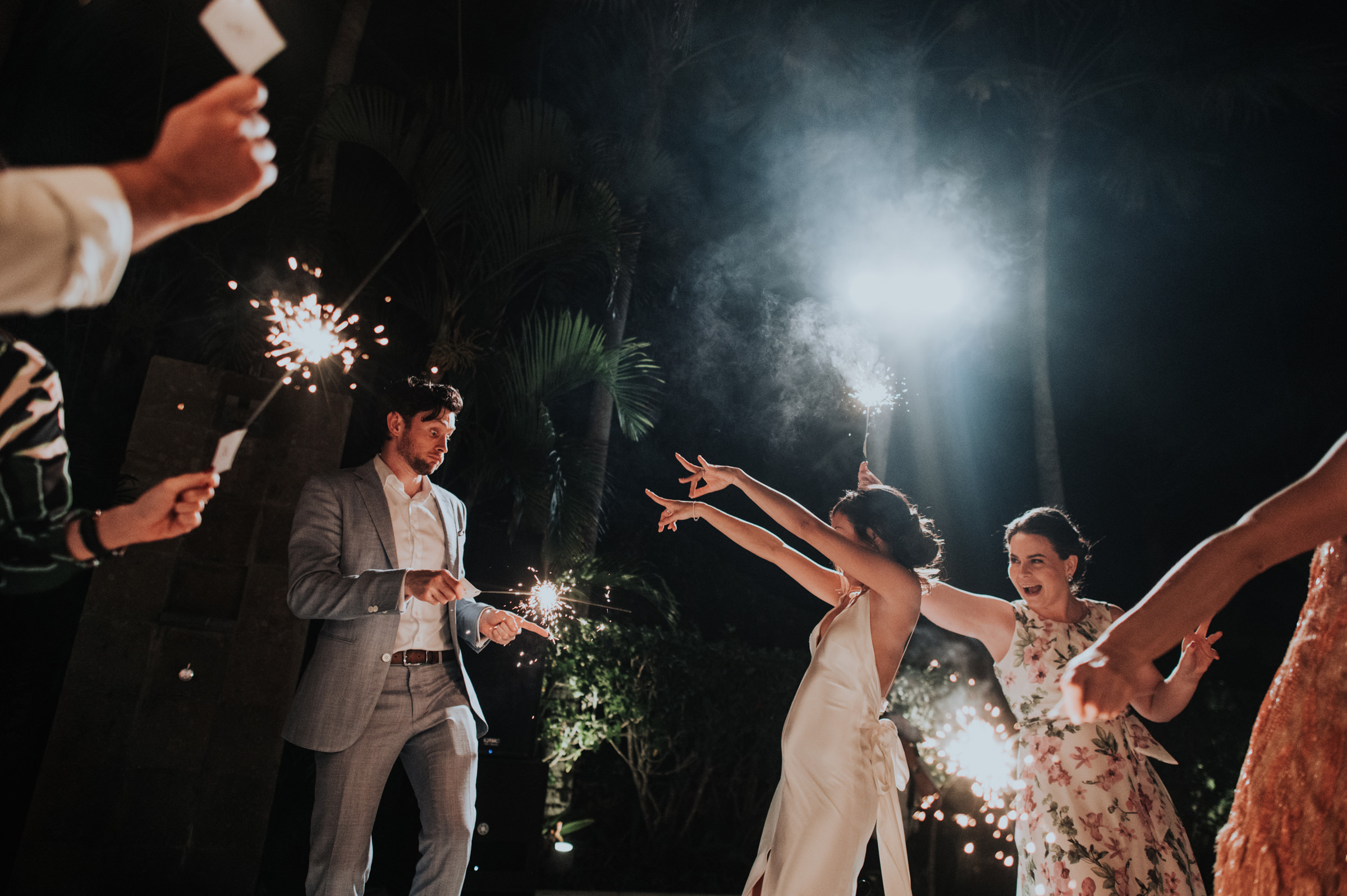 Couple at sparkler exit - Photo by MunKeat Photography Studio