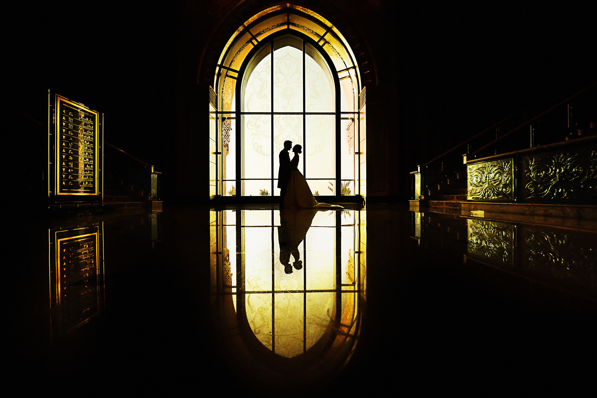 Silhouette with reflection framed within window, by Franck Boutonnet