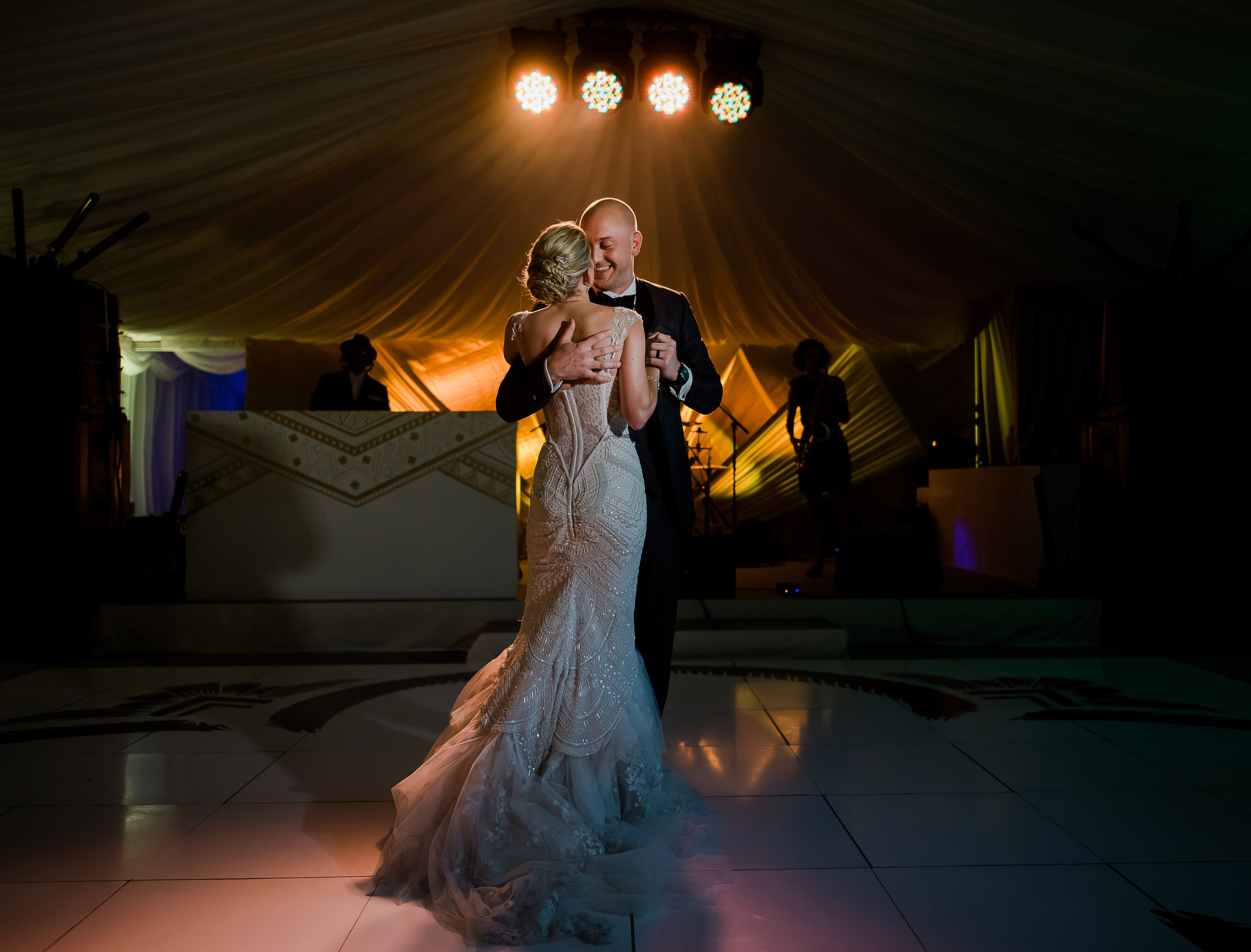 Romantic first dance - photo by The Brenizers
