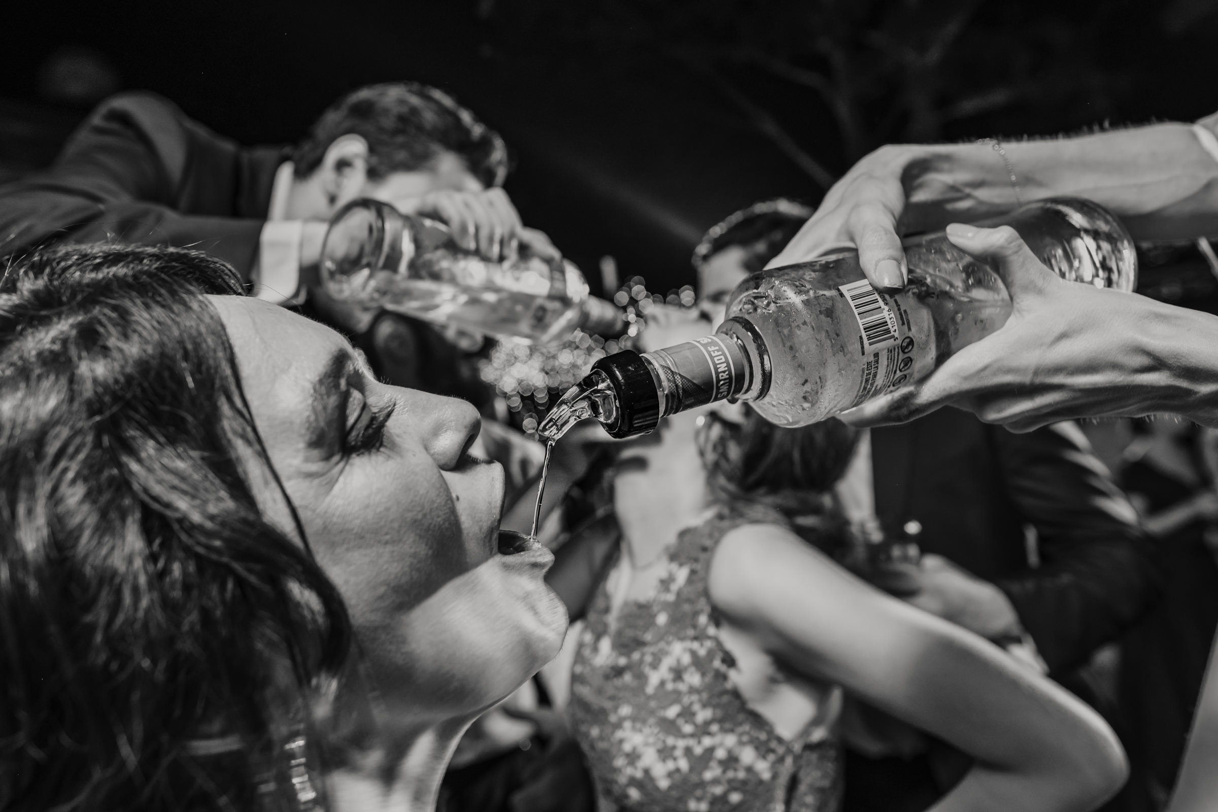 Vodka straight from the bottle - photo by El Marco Rojo