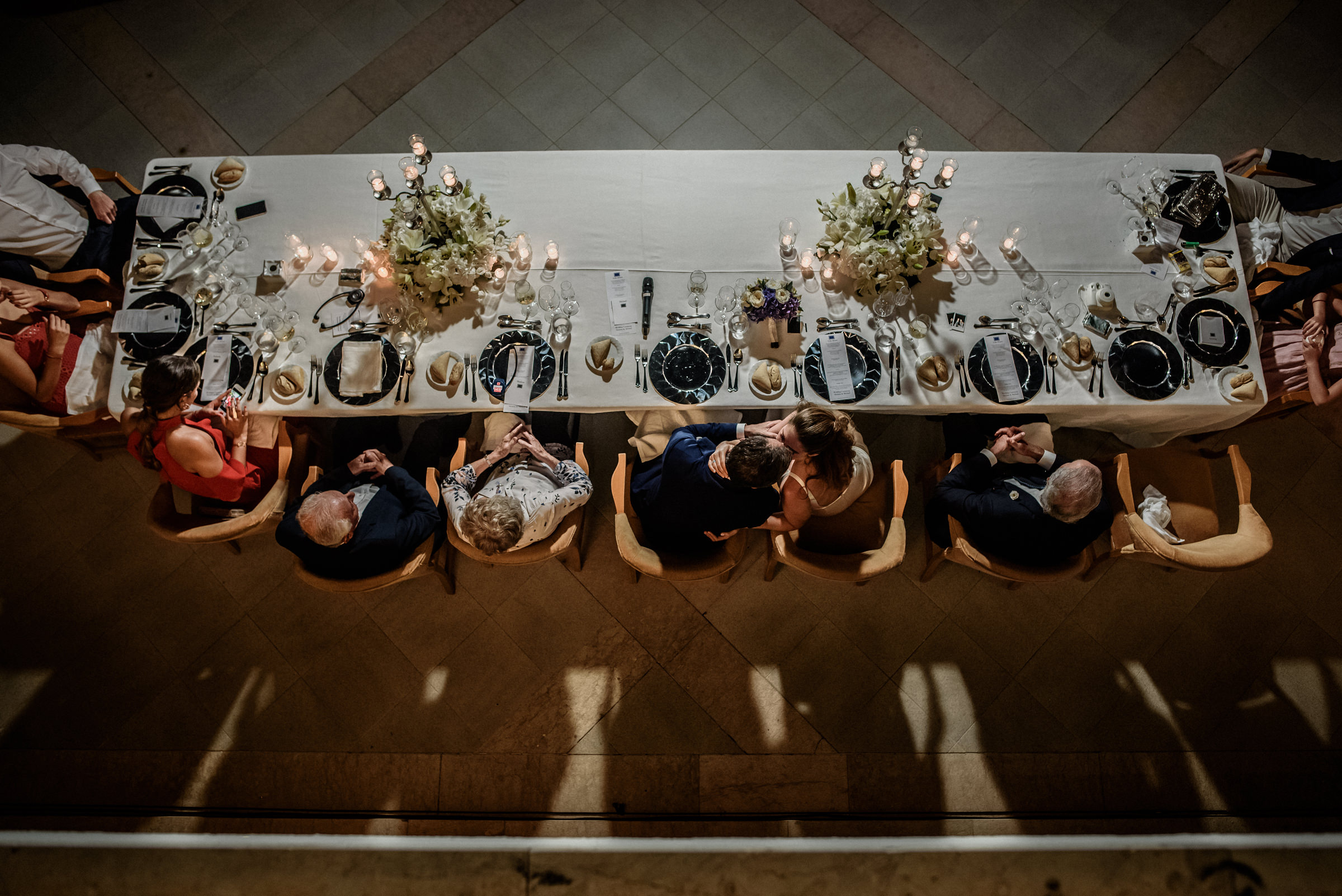 Wedding feast photographed from above - photo by El Marco Rojo