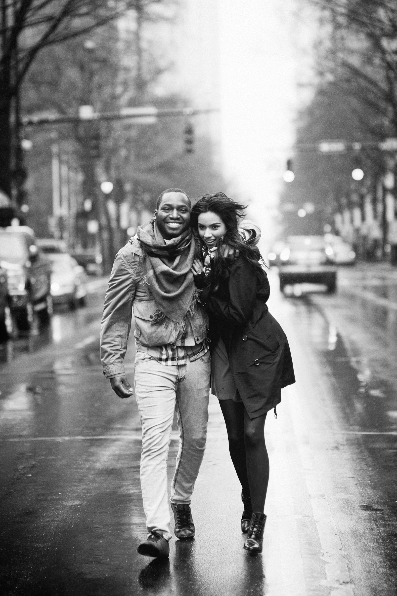 Fashionable couple cityscape - photo by Richard Israel Photography