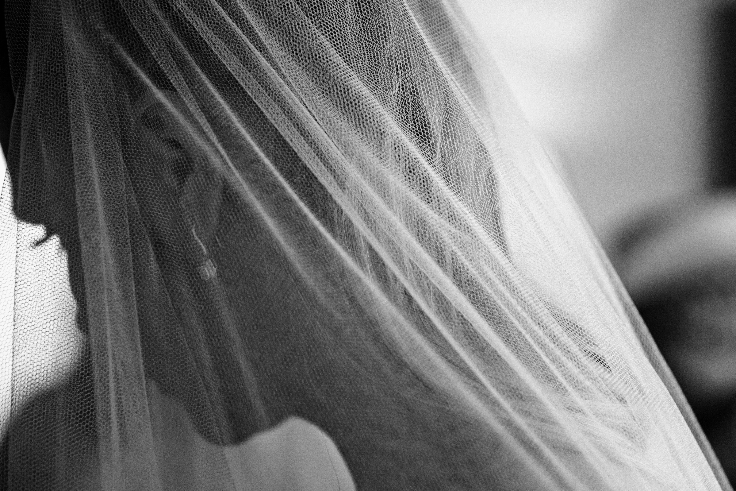 Moody portrait of bride in veil by Jeff Ascough