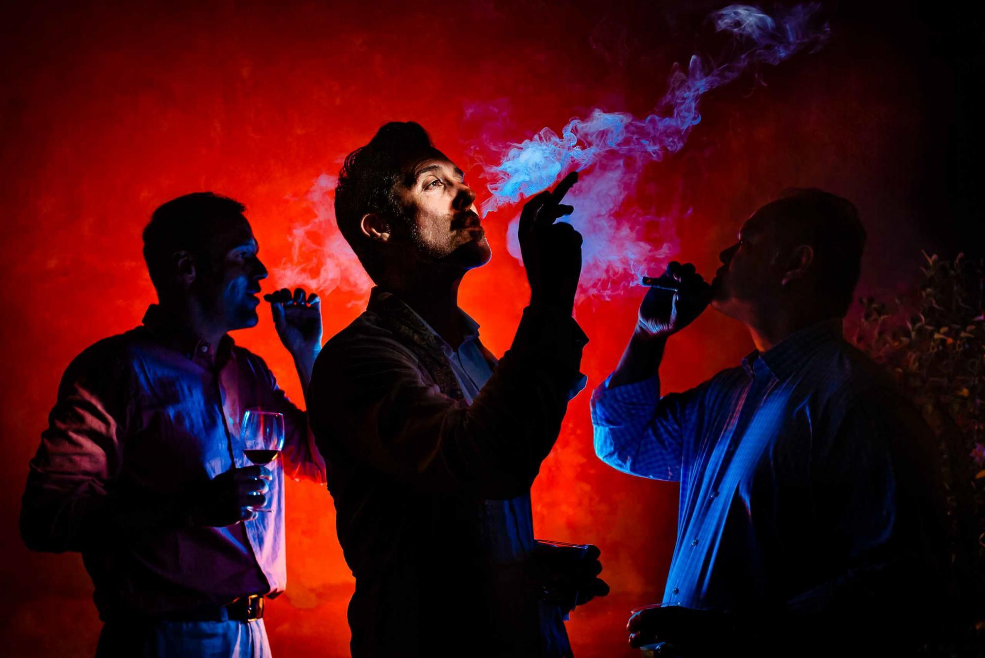 Groomsmen smoking  by JOS & TREE