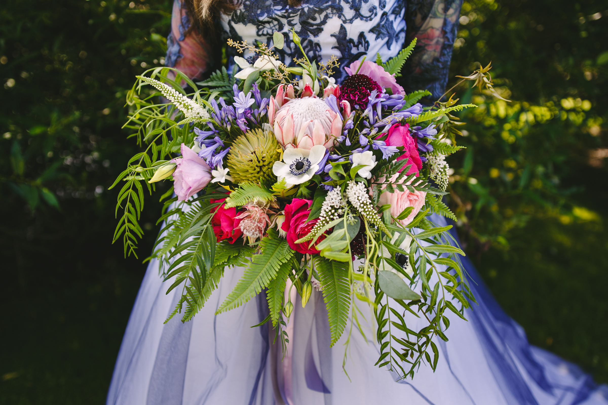 Bouquet detail - photo by Satya Curcio Photography