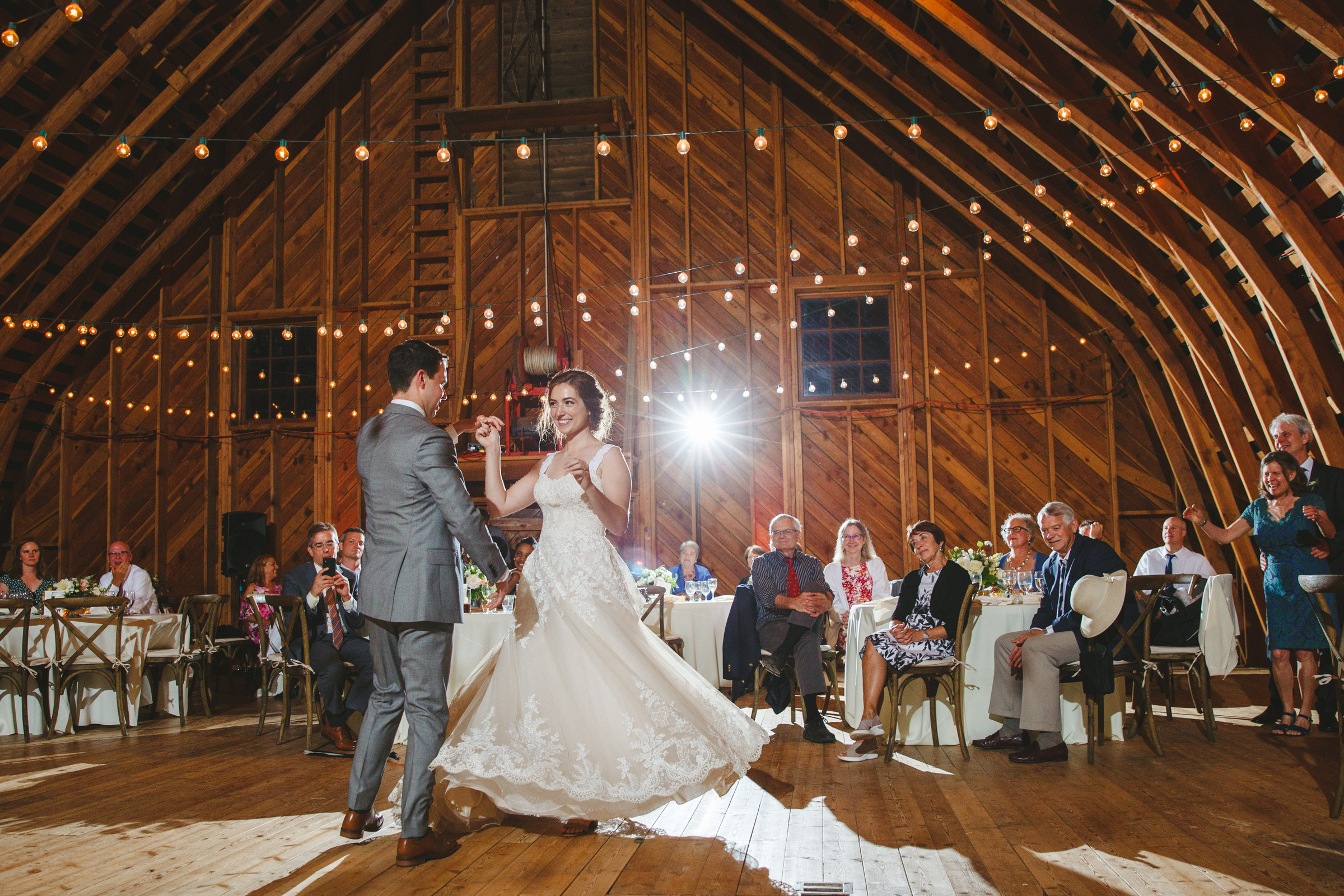 First dance in rustic setting - photo by Satya Curcio Photography