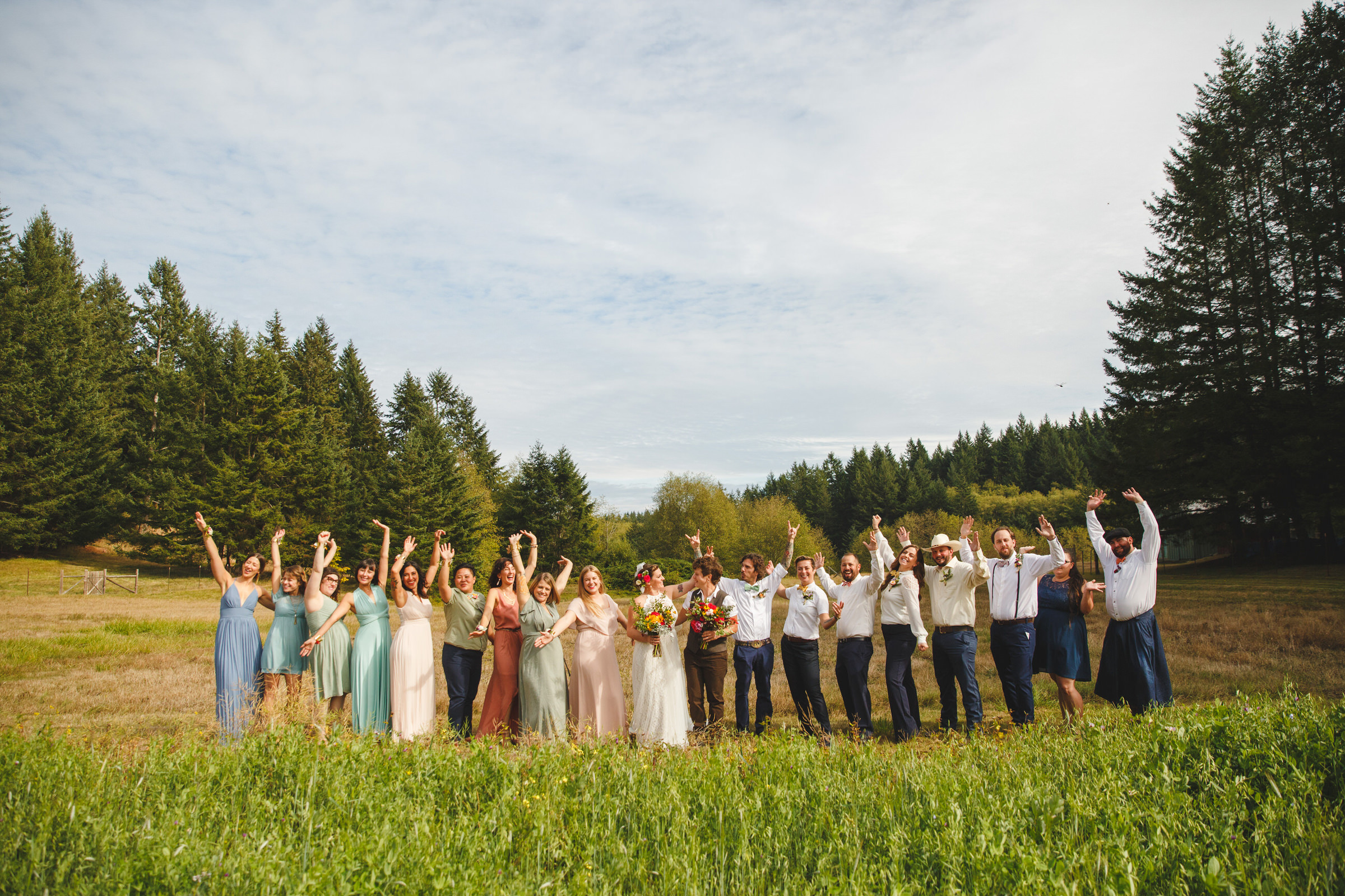 Group shop in rustic setting - photo by Satya Curcio Photography