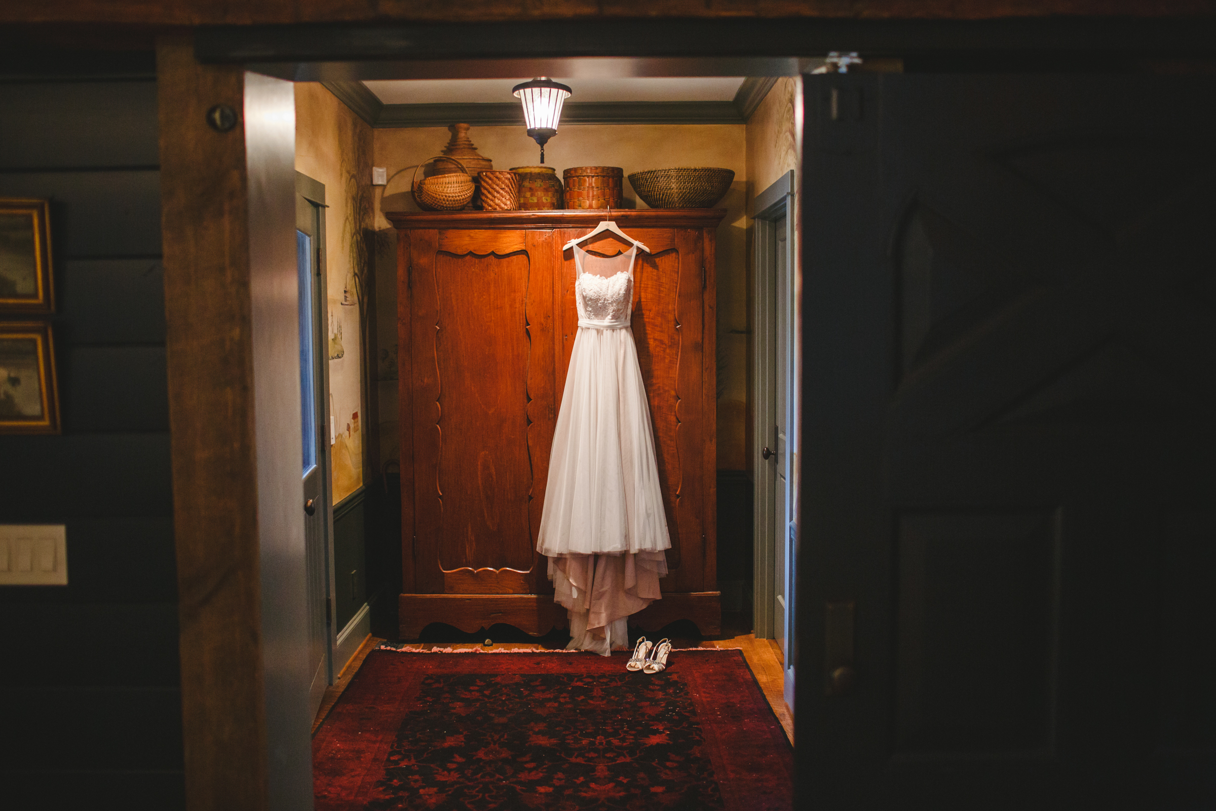 hanging gown - photo by Satya Curcio Photography