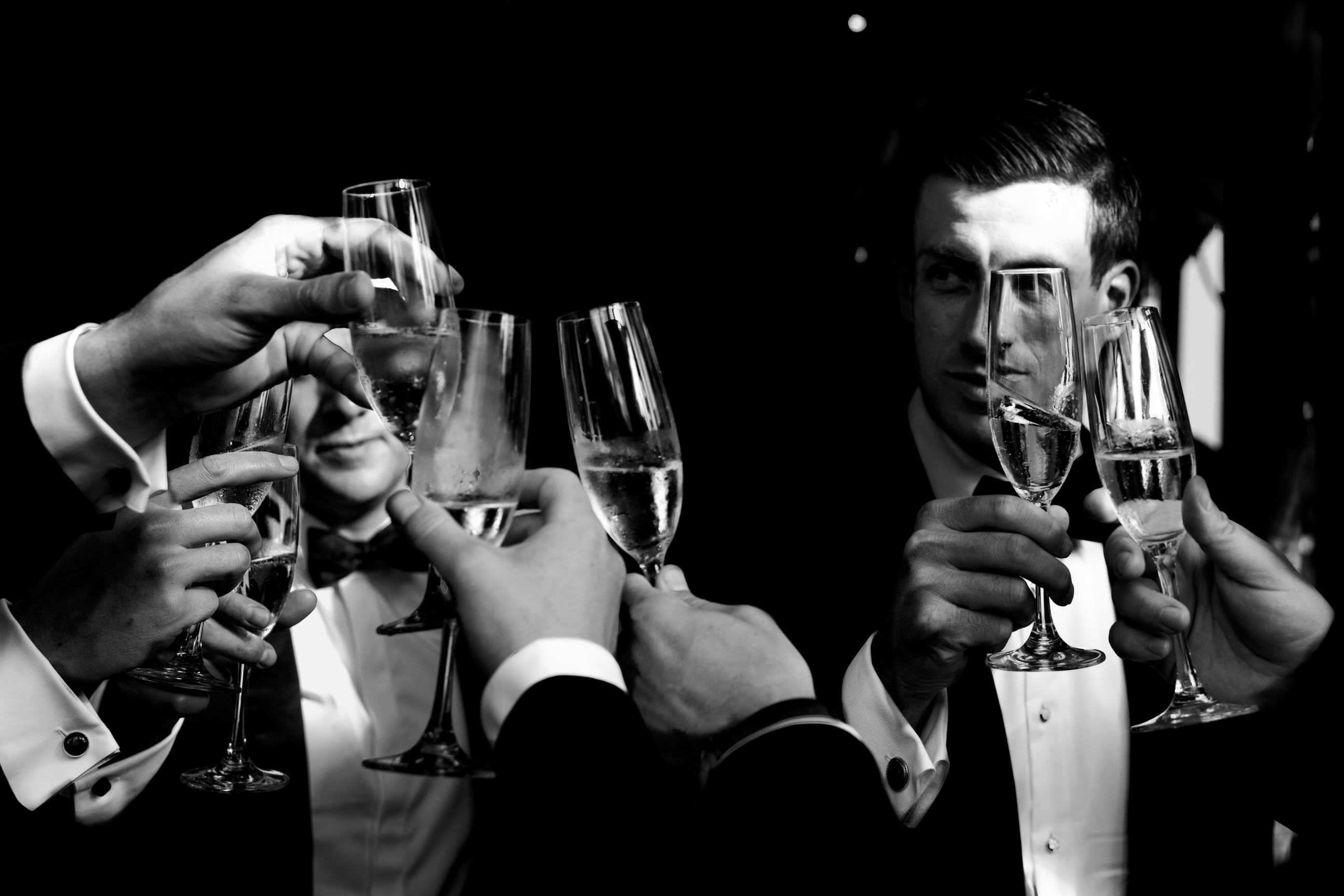 Champagne toast - photo by Angela Nelson Photography