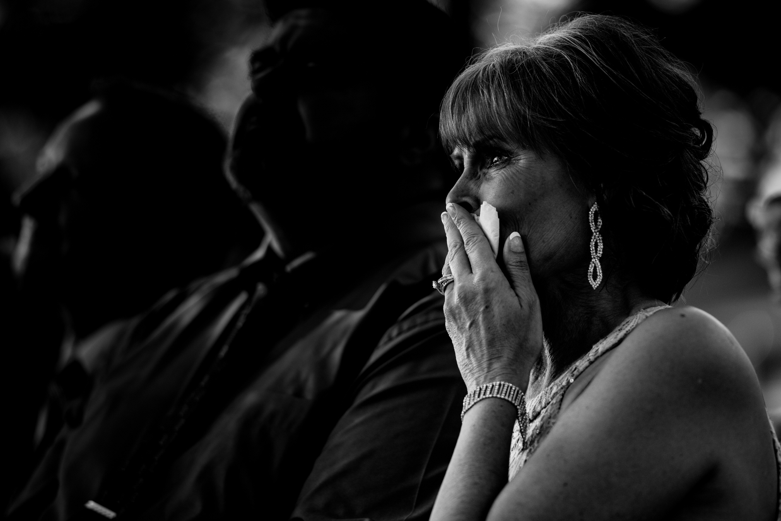 Emotional mother of the bride - photo by Angela Nelson Photography